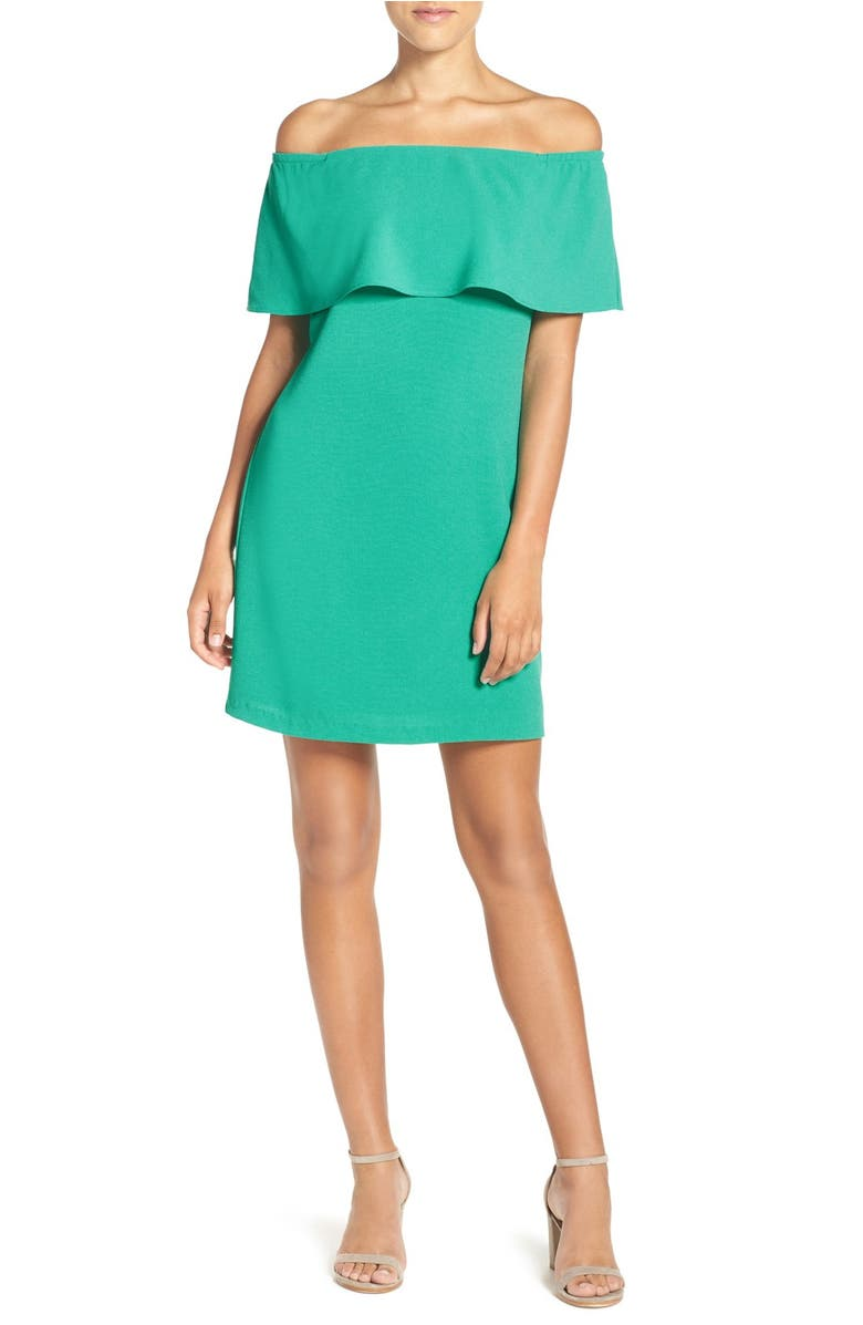 Off the Shoulder Dress,                         Main,                         color, Atlantis