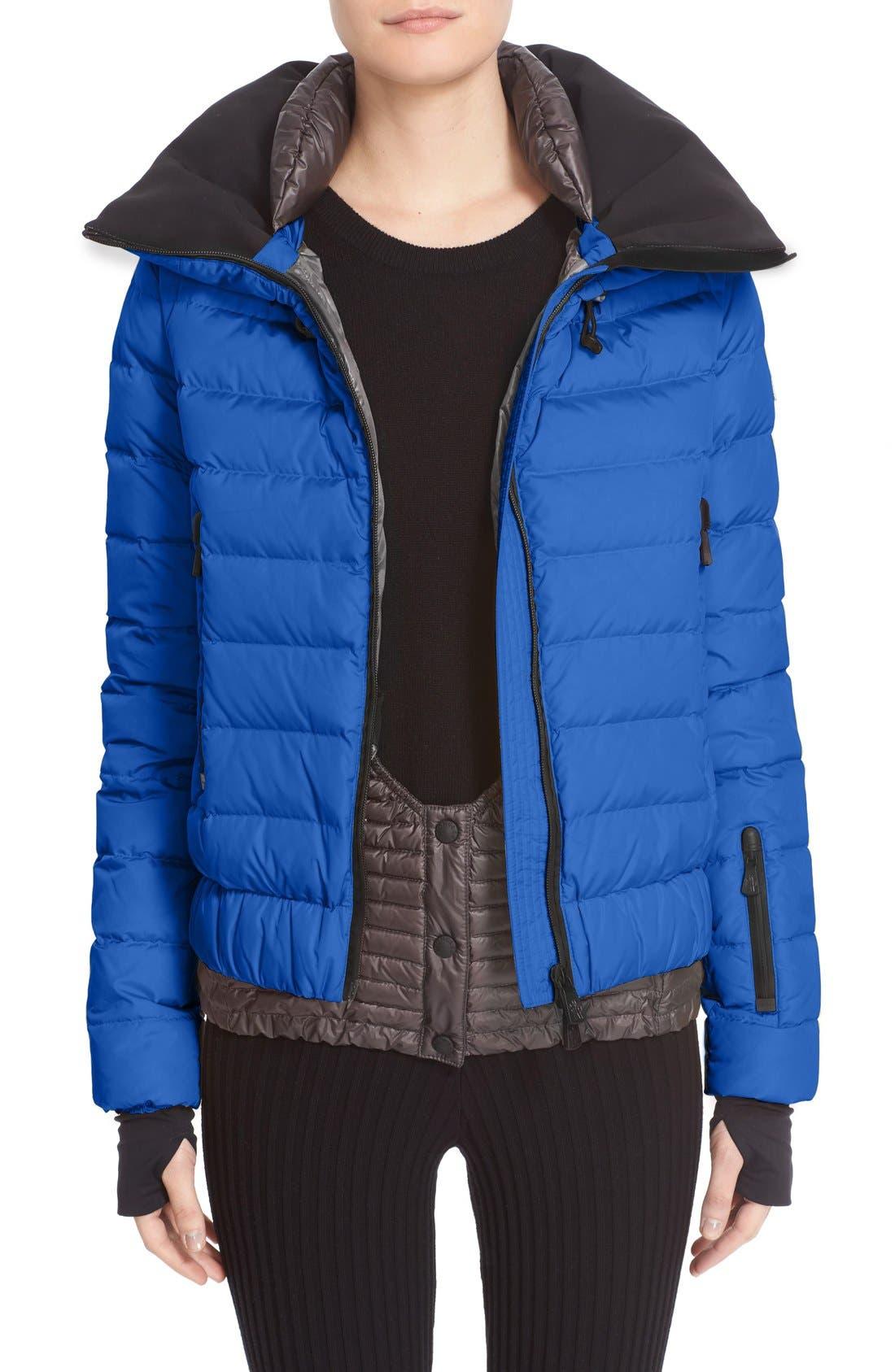 'Vonne' Nylon Down Puffer Jacket,                             Alternate thumbnail 5, color,                             Blue