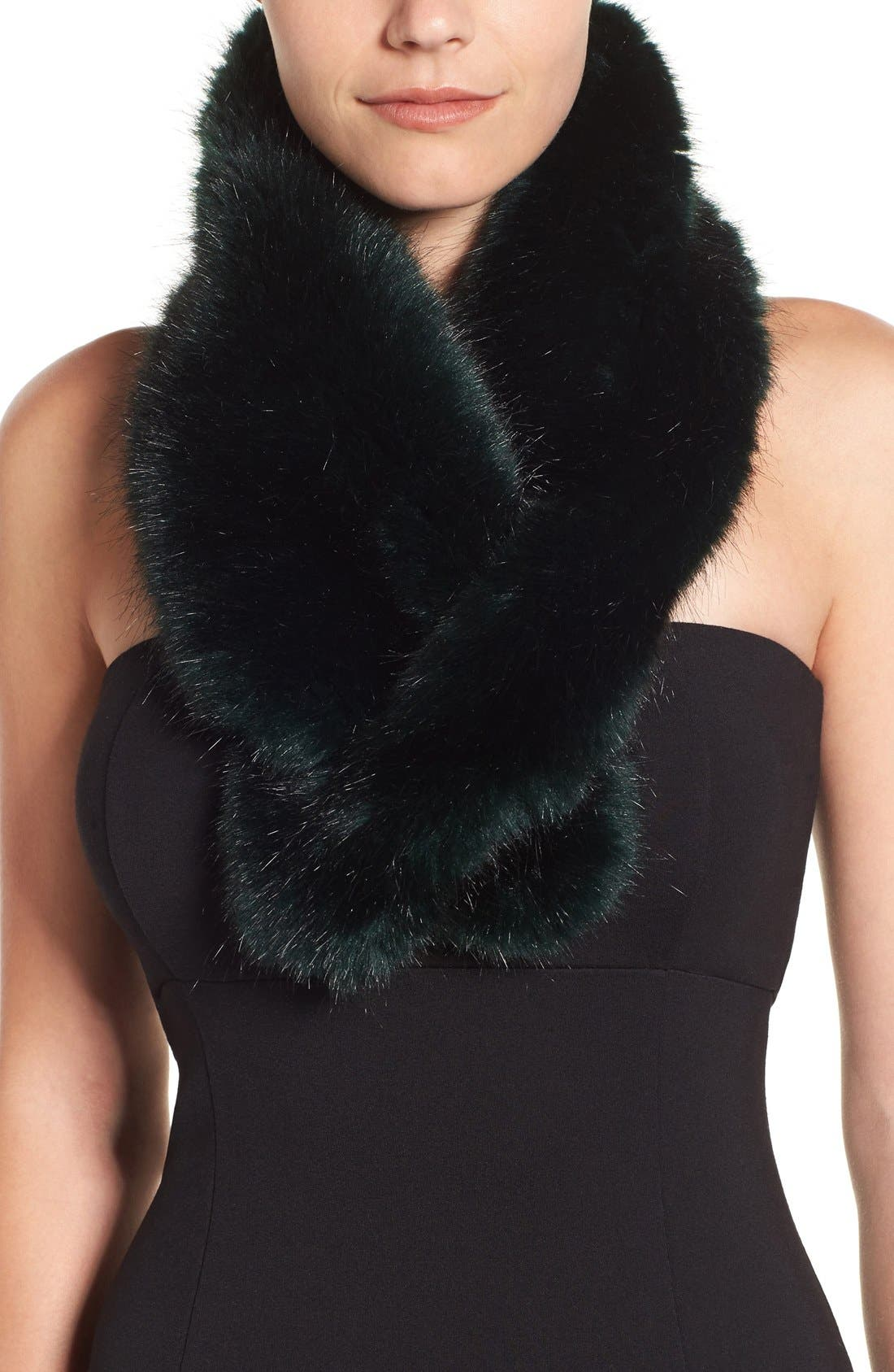 Main Image - Halogen® Faux Fur Pull Through Scarf