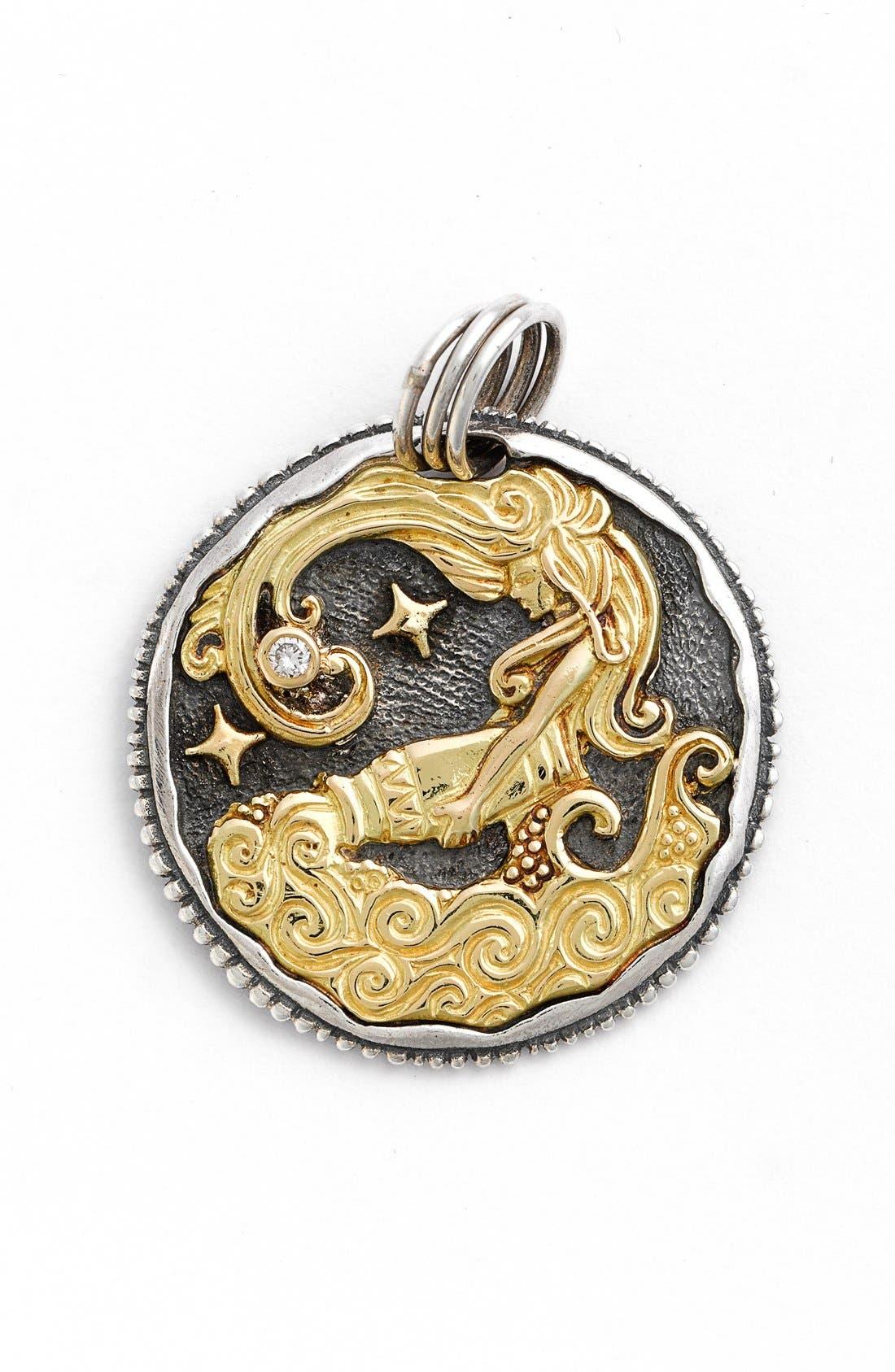 Konstantino Aquarius Carved Zodiac Pendant with Diamond Vhcpm8Q