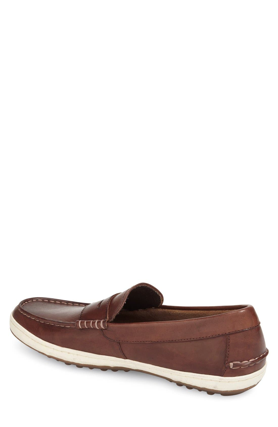 'Pinch Roadtrip' Penny Loafer,                             Alternate thumbnail 2, color,                             Woodbury Leather