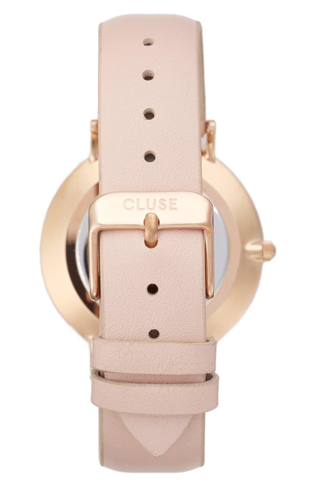 Alternate Image 2  - CLUSE La Bohème Leather Strap Watch, 38mm