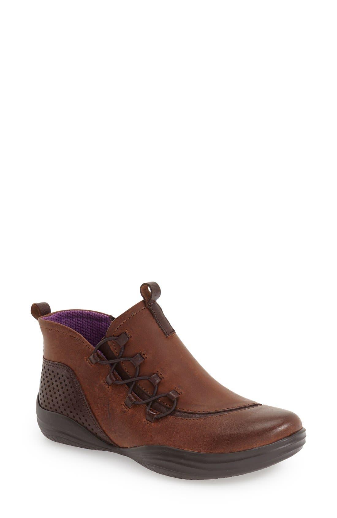 'Santiago' Bootie,                         Main,                         color, Mahogany Oiled Nubuck Leather