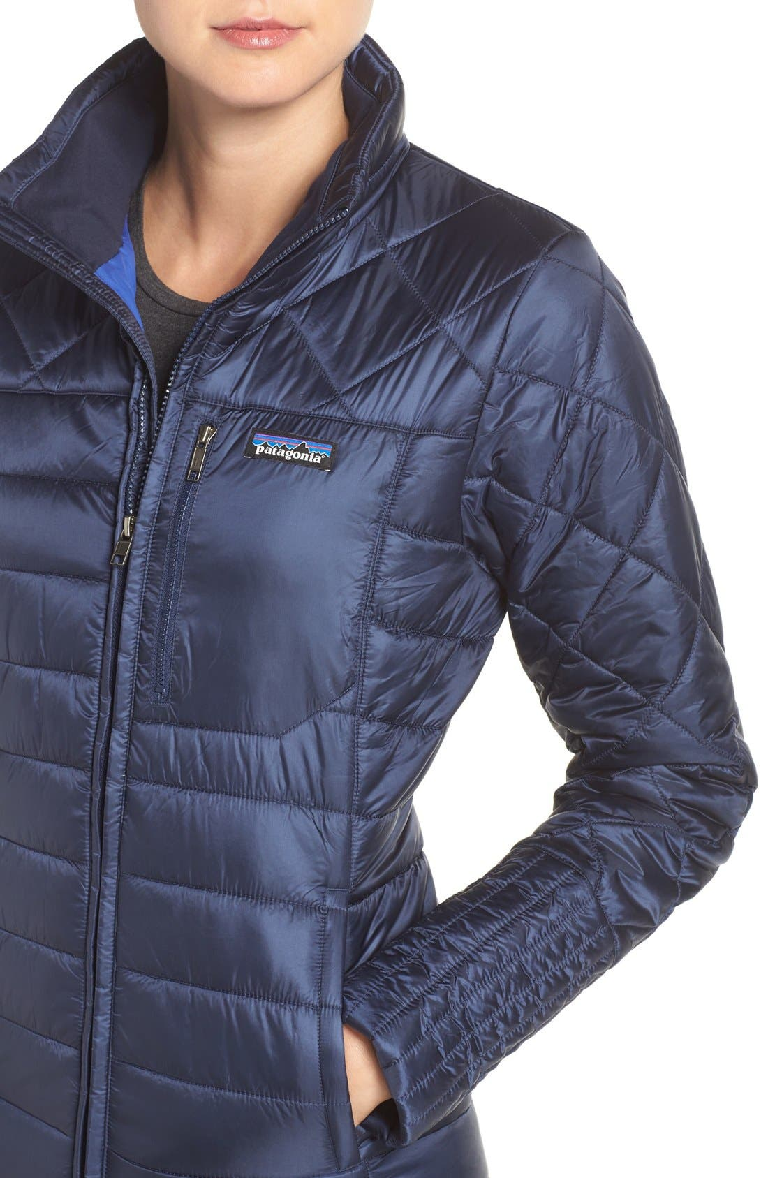 'Radalie' Water Repellent Parka,                             Alternate thumbnail 4, color,                             Navy Blue