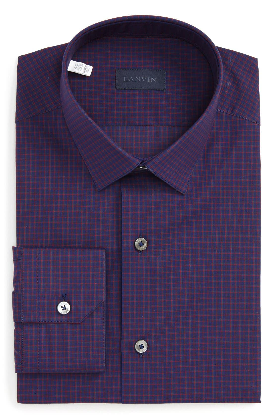 Lanvin Trim Fit Check Dress Shirt