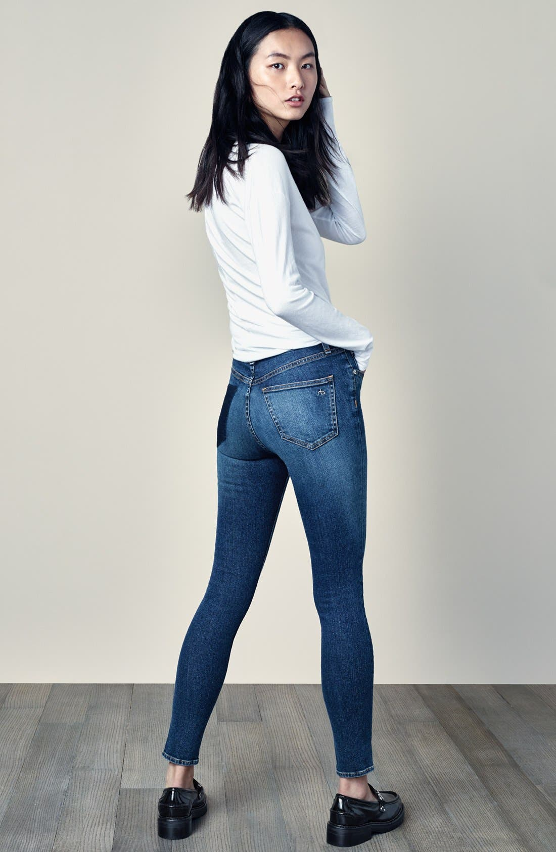 Alternate Image 6  - rag & bone/JEAN 'Dive' Jeans (Eddy)