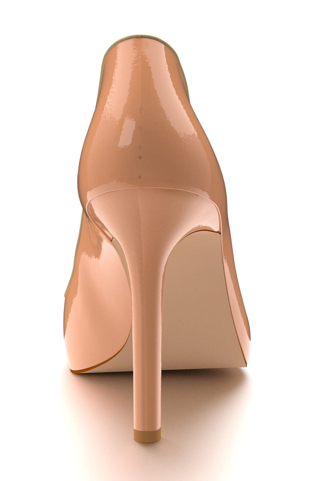 Pointy Toe Pump,                             Alternate thumbnail 2, color,                             Nude Patent