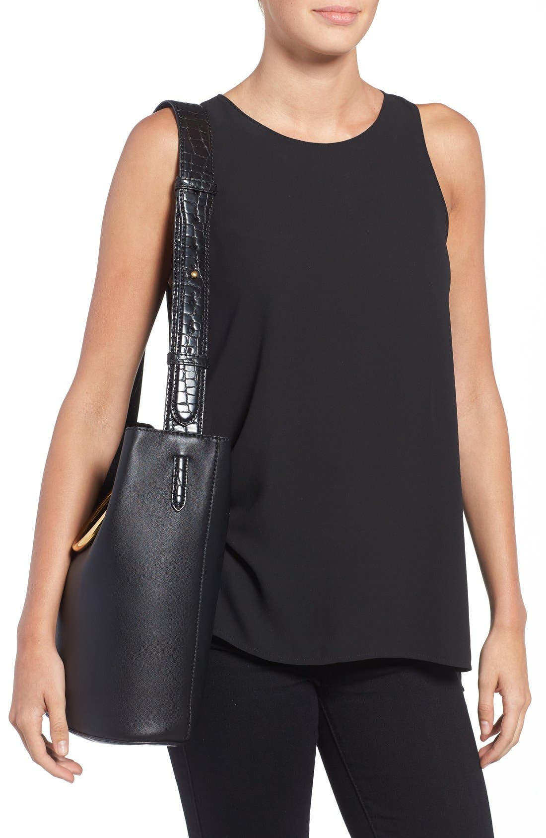 Alternate Image 2  - Stella McCartney 'Medium Ring' Faux Nappa Leather Bucket Bag