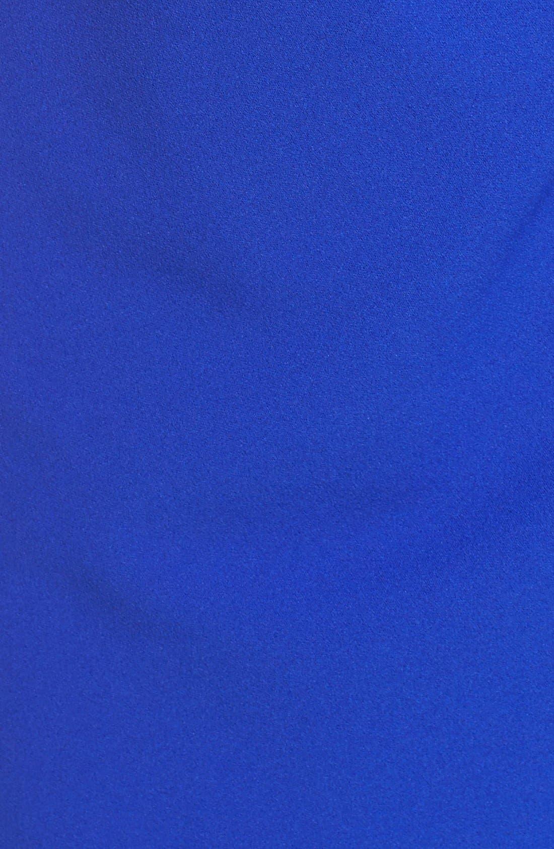 Alternate Image 5  - Betsey Johnson Gathered Crepe Sheath Dress