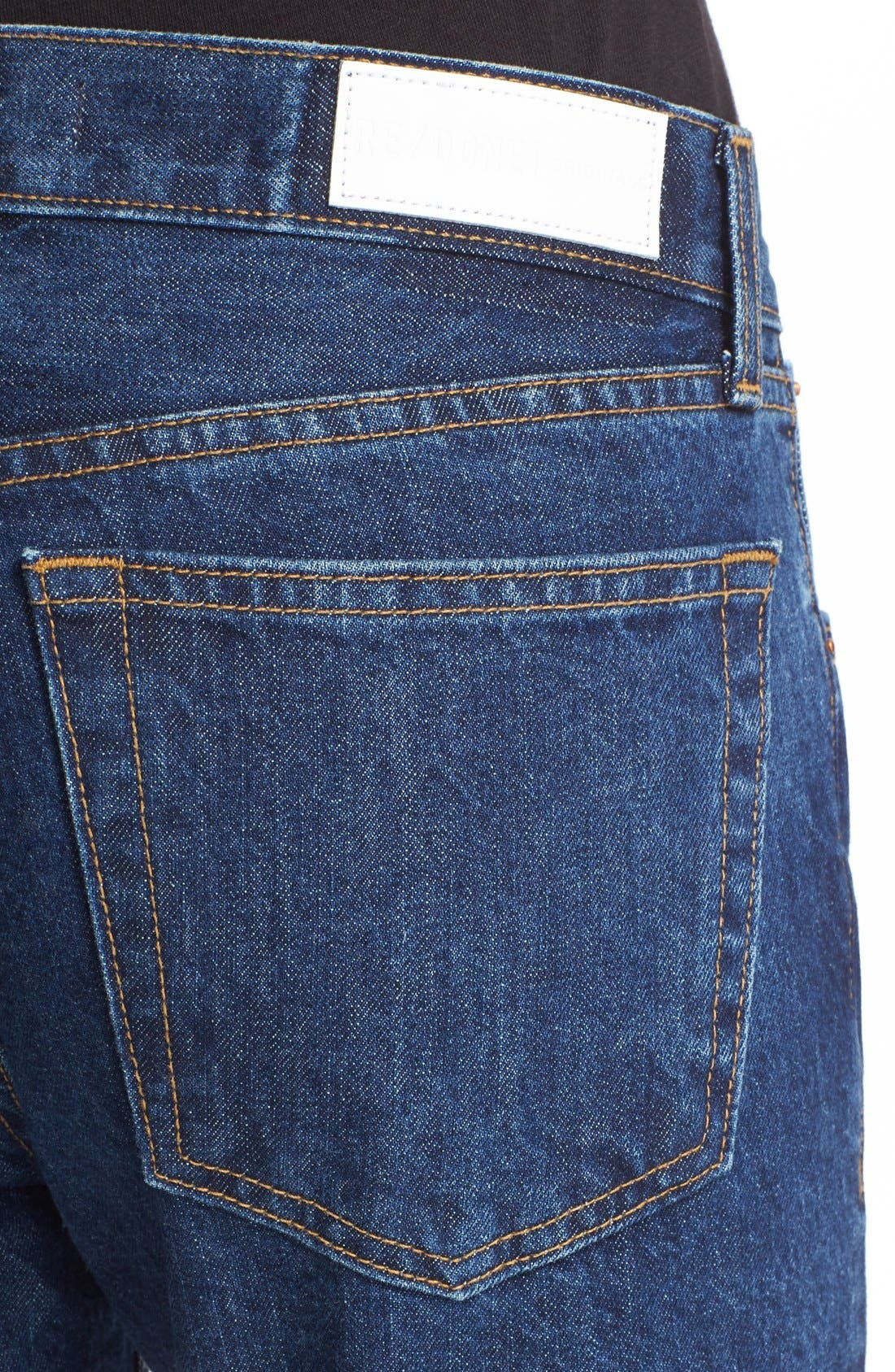 Originals High Waist Crop Jeans,                             Alternate thumbnail 4, color,                             Dark