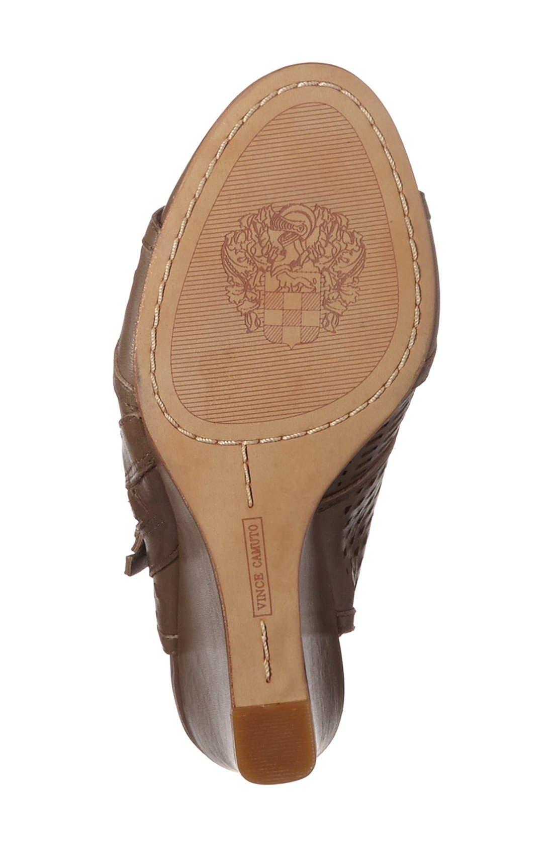 Alternate Image 4  - Vince Camuto 'Xabrina' Perforated Wedge Sandal (Women)