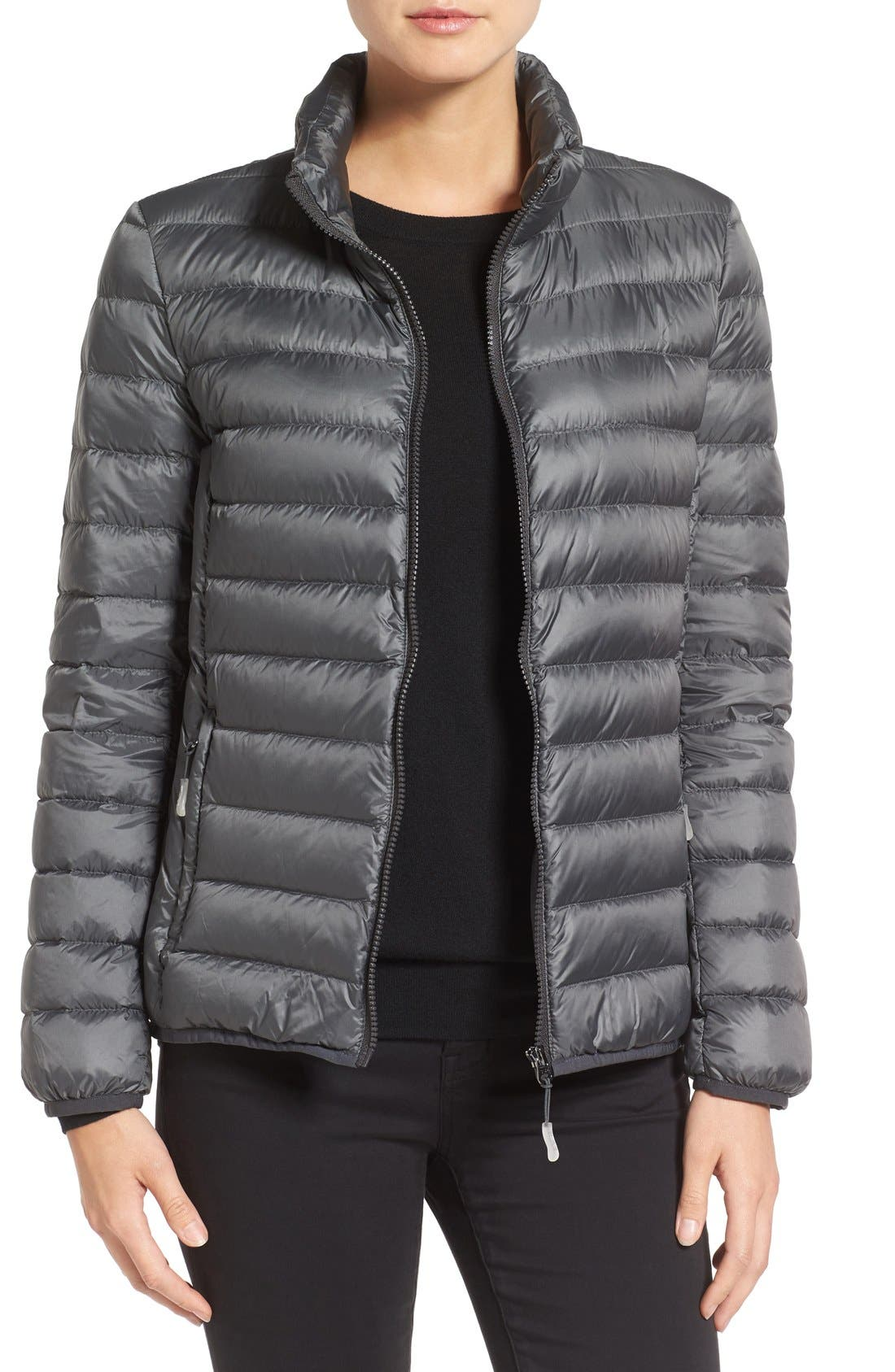 Pax on the Go Packable Quilted Jacket,                             Main thumbnail 1, color,                             Slate Grey