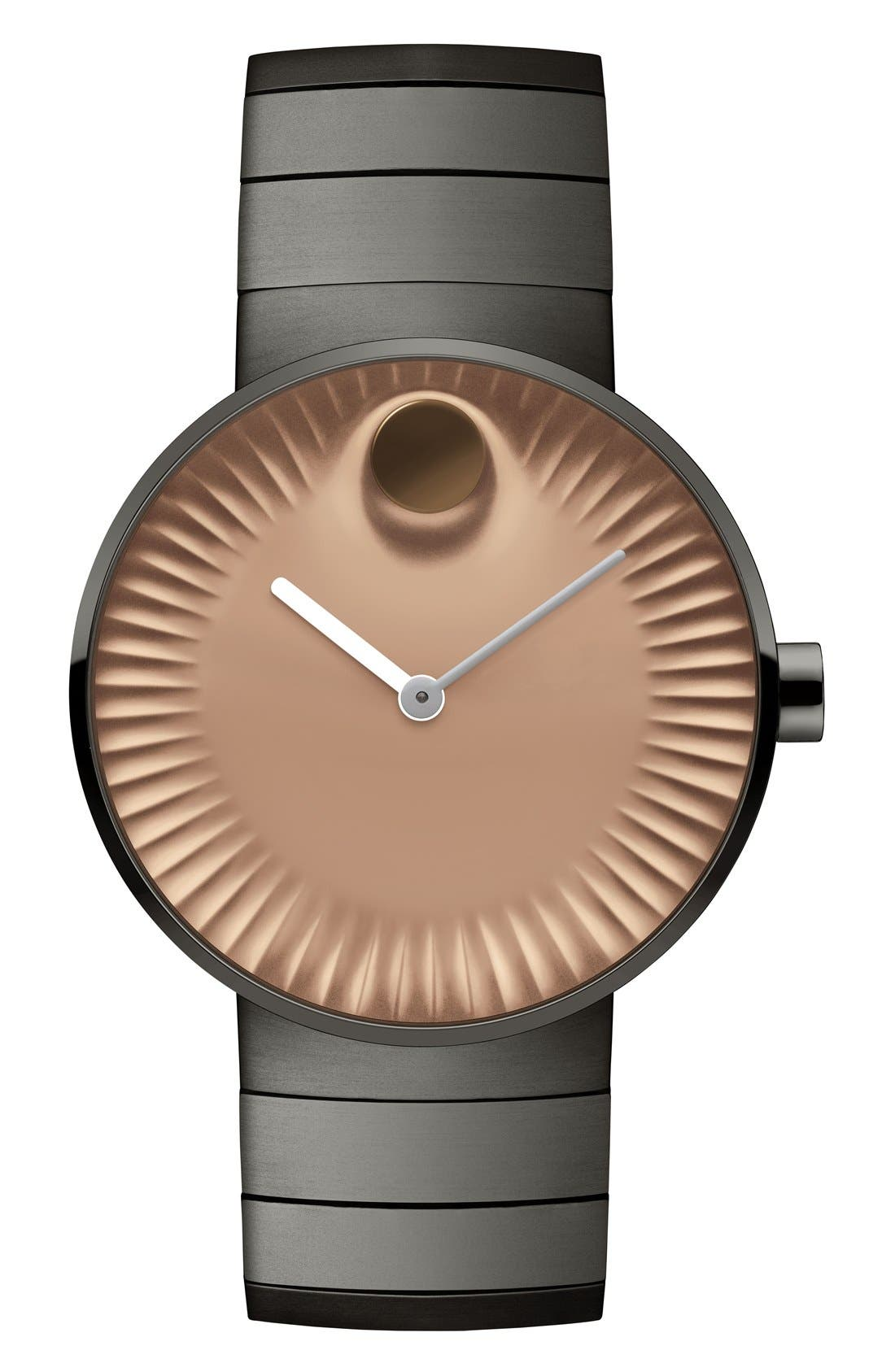 Movado 'Edge' Bracelet Watch, 40mm