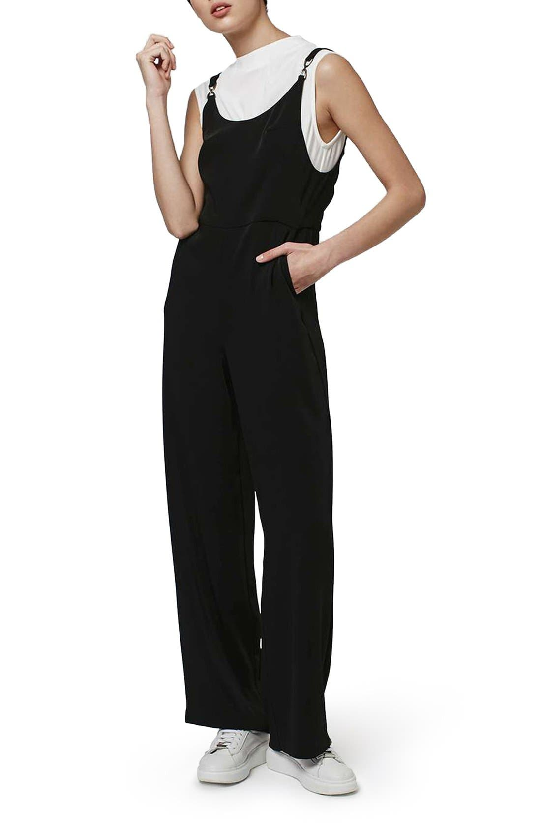 Topshop Layer Look 2-in-1 Jumpsuit