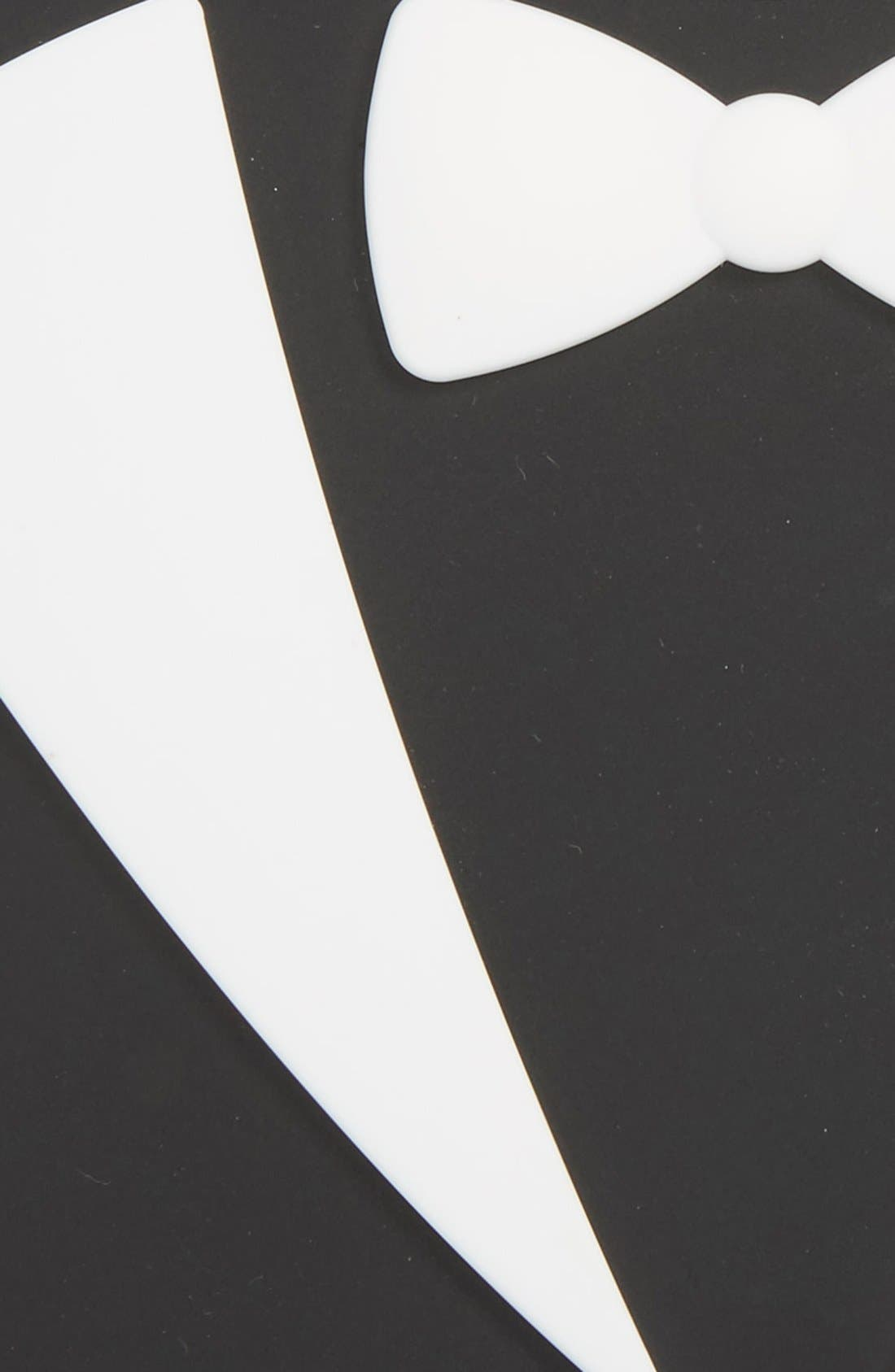 'Lookin' Dapper' Bib,                             Alternate thumbnail 3, color,                             Tuxedo
