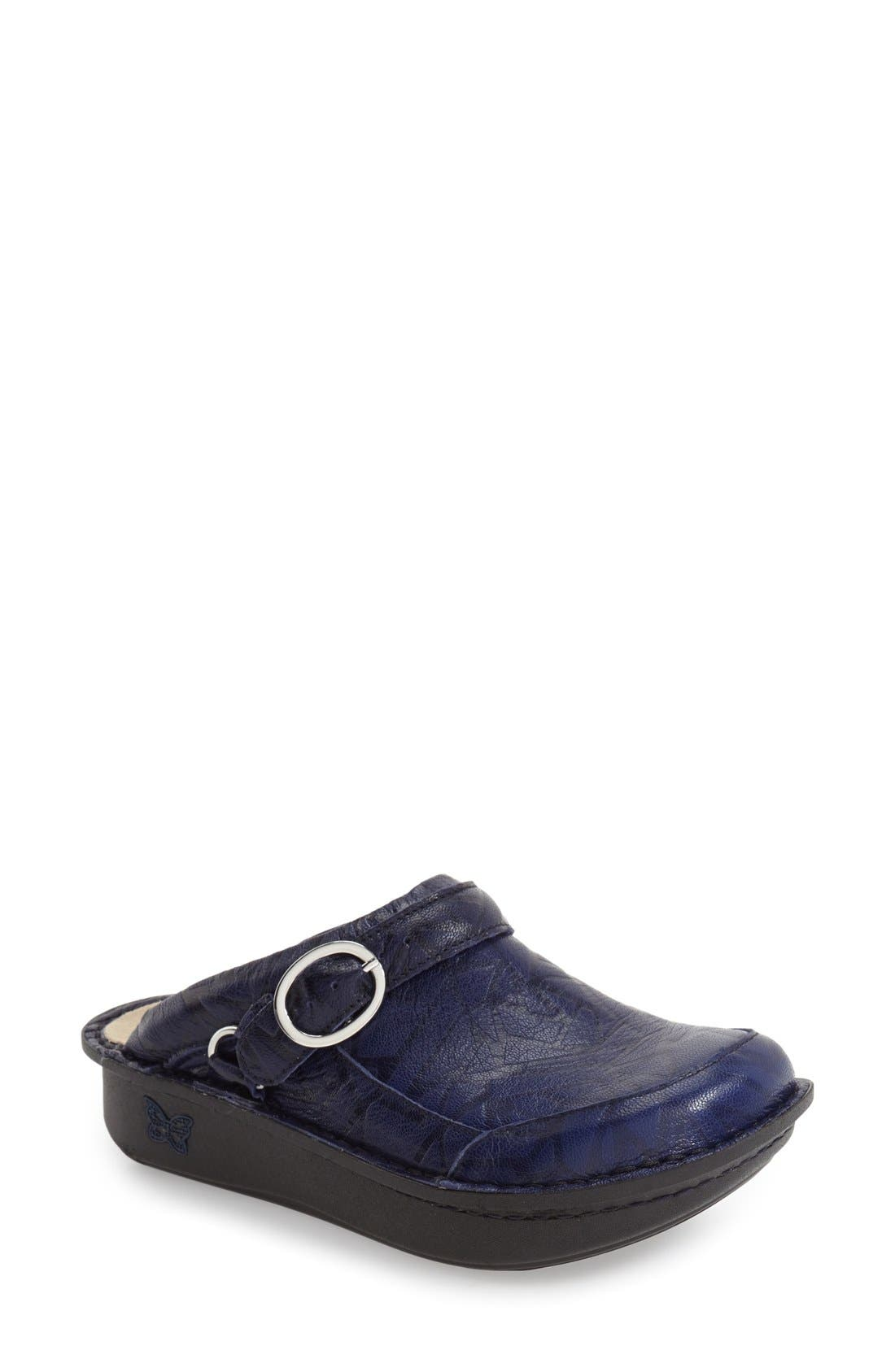 Seville Water Resistant Clog,                         Main,                         color, Tetrus Blue Leather