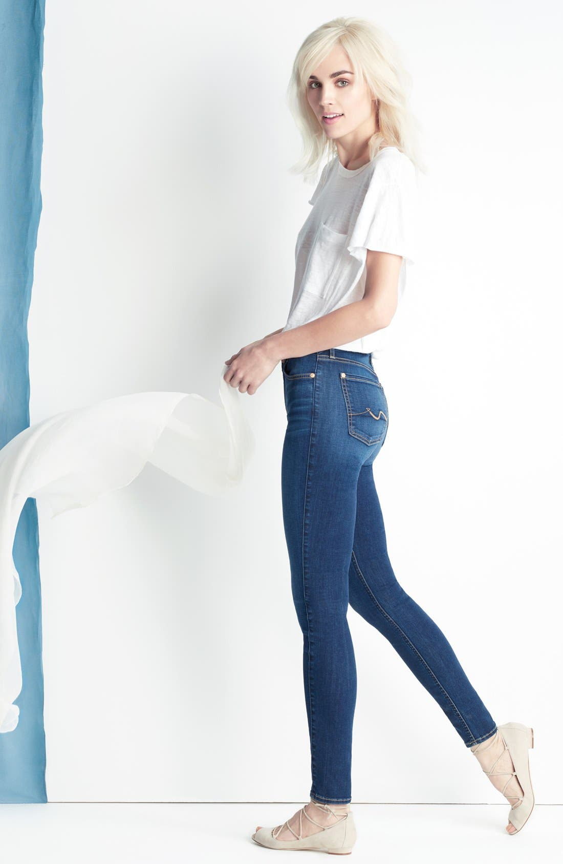 Alternate Image 6  - 7 For All Mankind® 'b(air) - The Skinny' Skinny Jeans