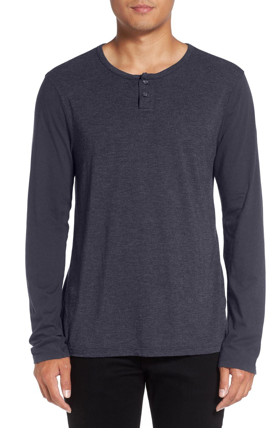 Knit Henley,                         Main,                         color, Nocturnal