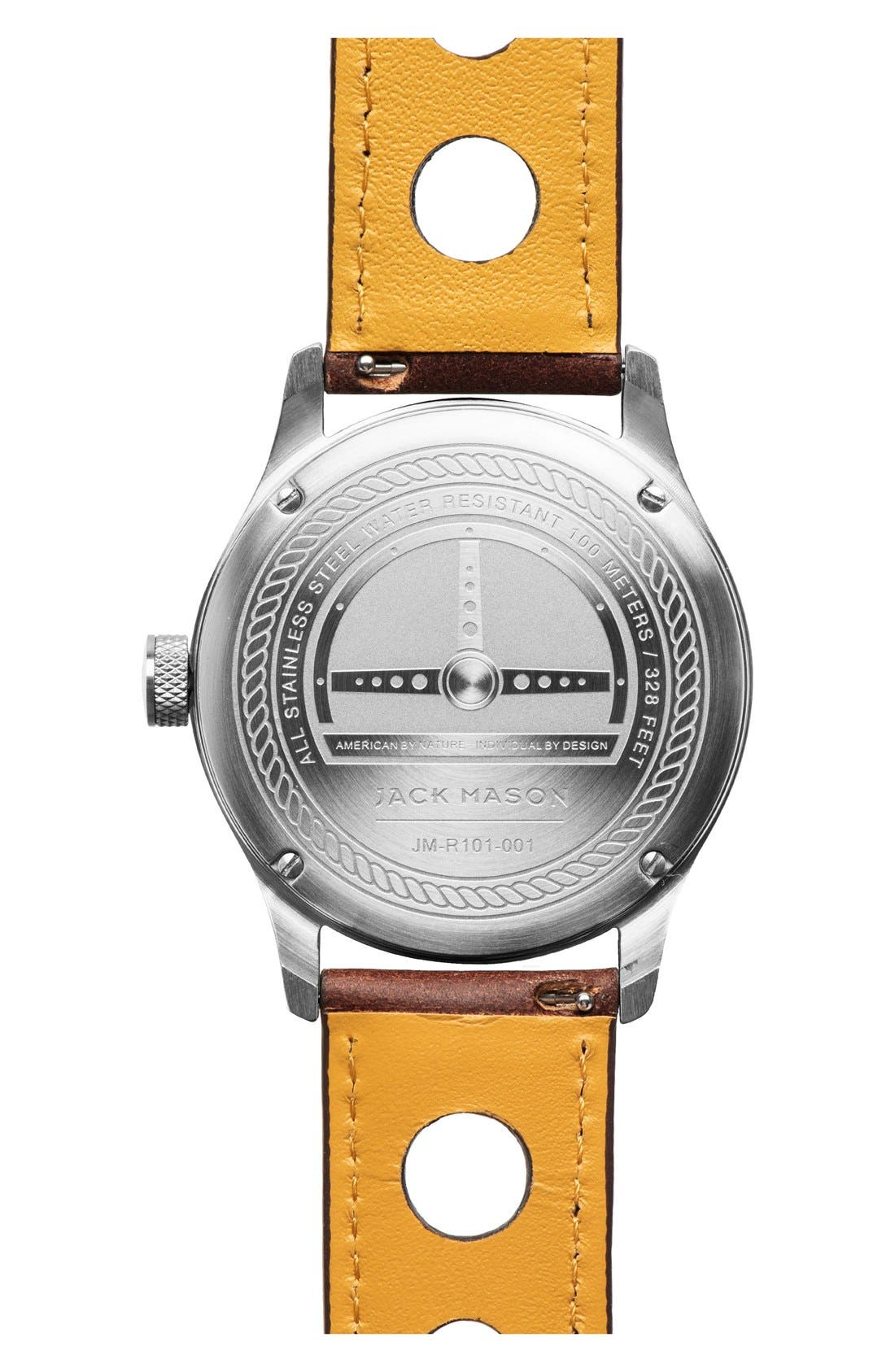 Alternate Image 2  - Jack Mason Leather Strap Watch, 42mm