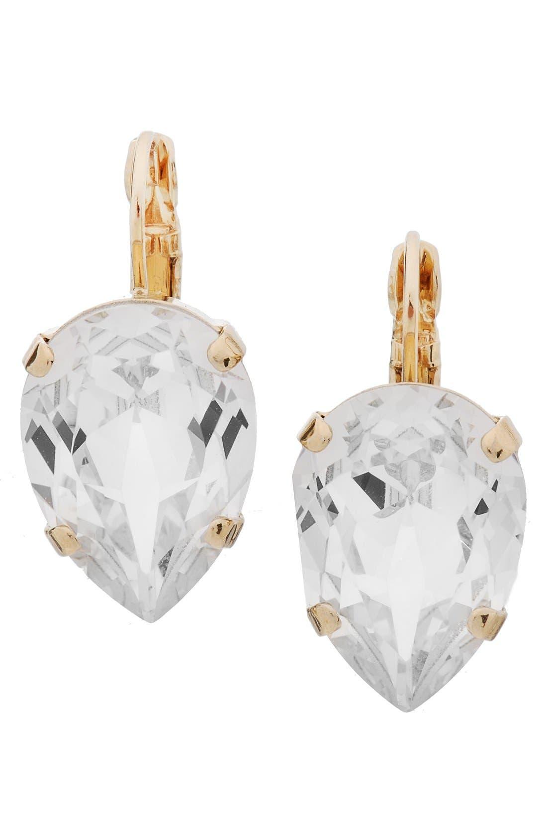 'Scarlett' Teardrop Earrings,                             Main thumbnail 1, color,                             Crystal/ Gold