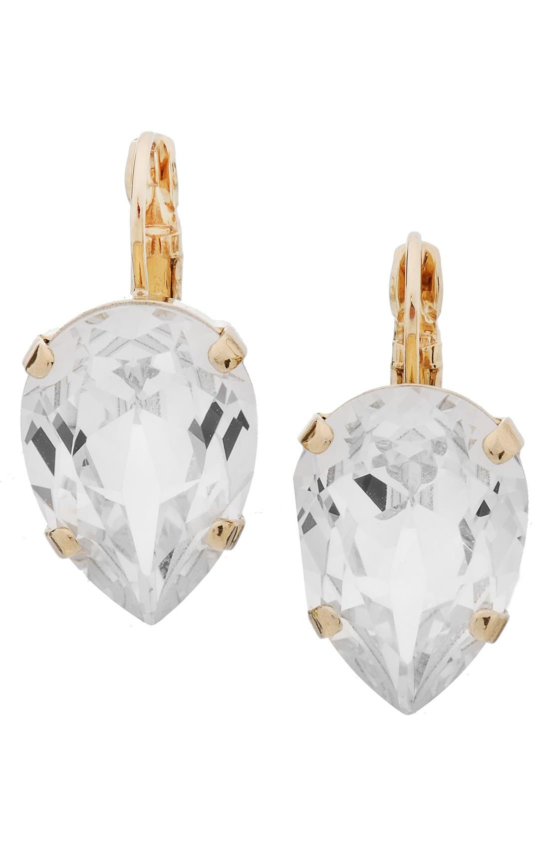 'Scarlett' Teardrop Earrings,                         Main,                         color, Crystal/ Gold