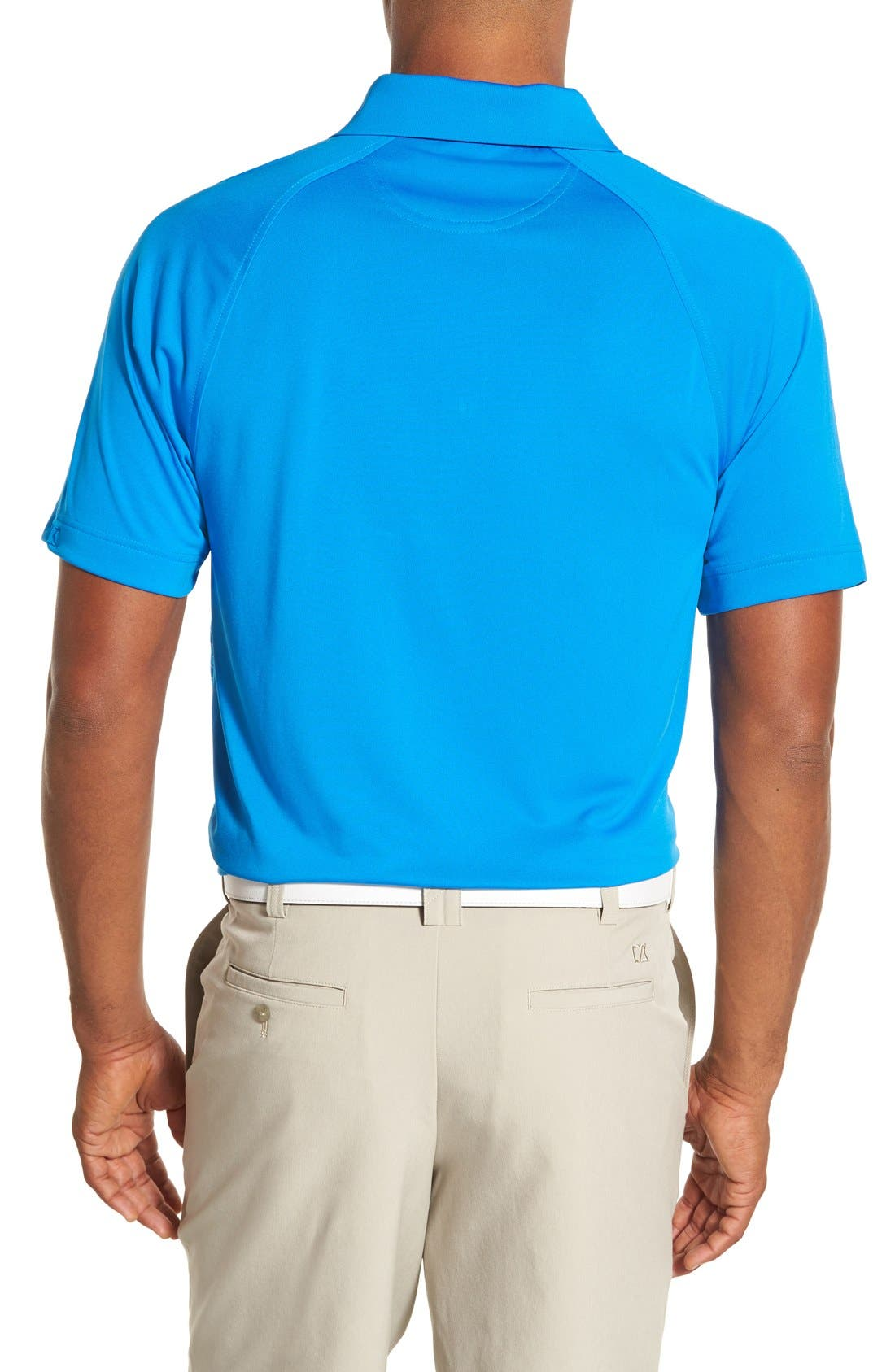 'Junction' Stripe DryTec Polo,                             Alternate thumbnail 2, color,                             Digital/ White