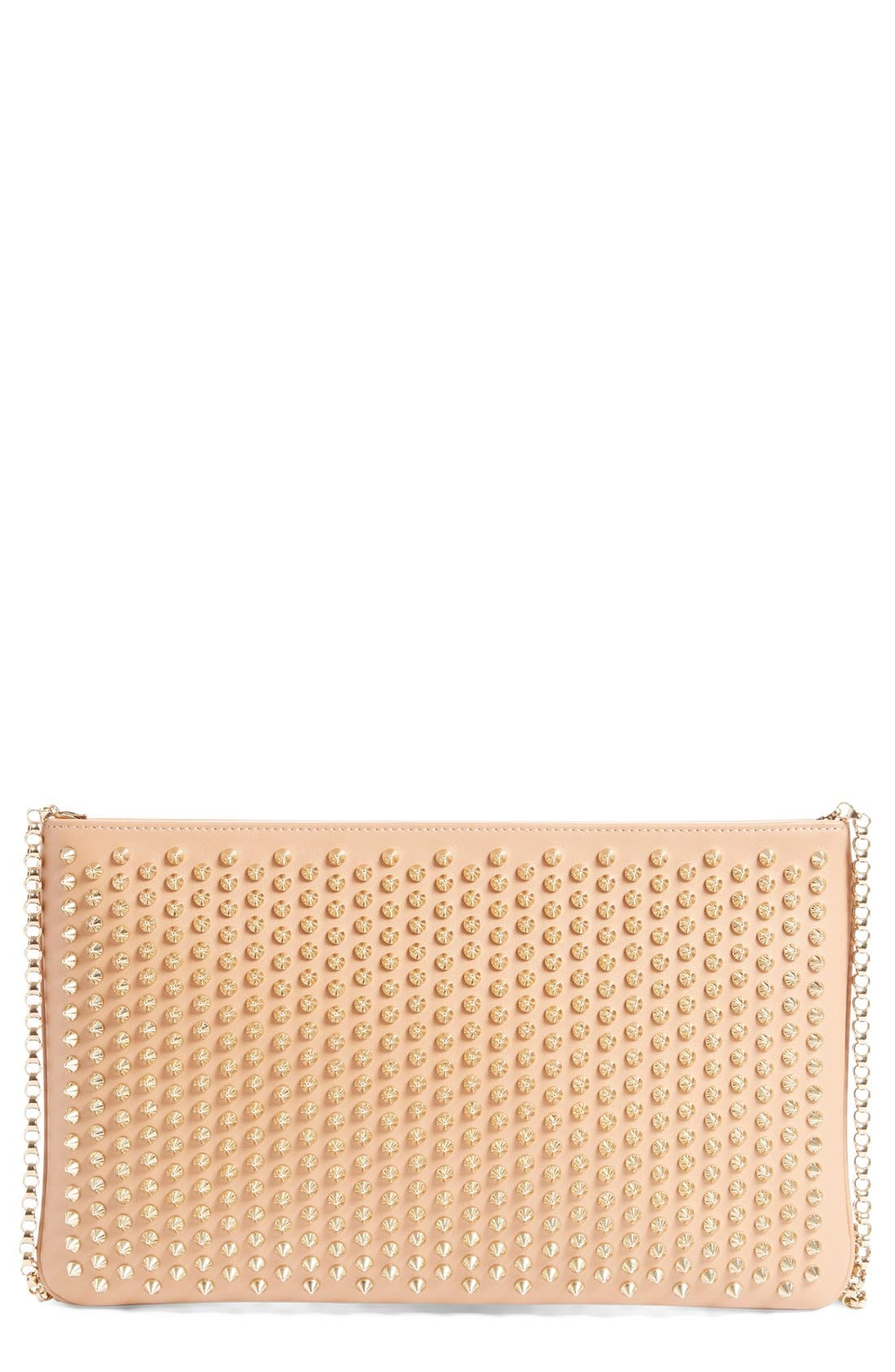 Christian Louboutin 'Loubiposh' Spiked Calfskin Shoulder Bag