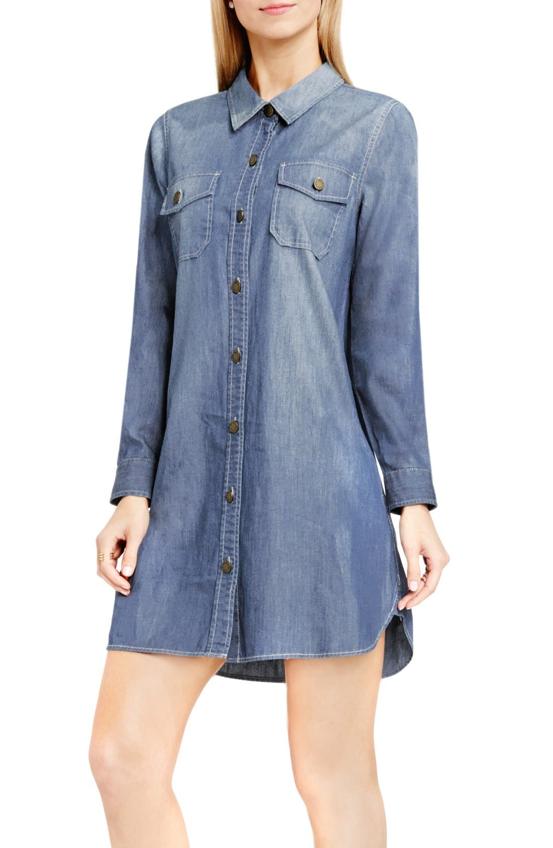 Main Image - Two by Vince Camuto Denim Shirtdress
