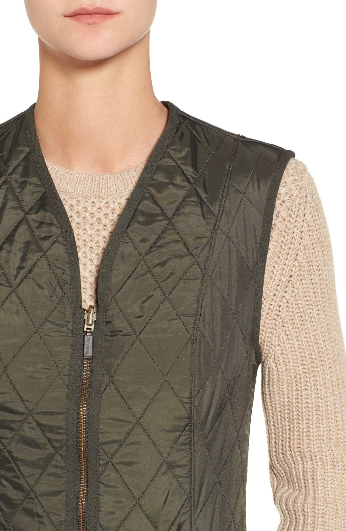 Alternate Image 4  - Barbour 'Betty' Fleece Lined Quilted Liner