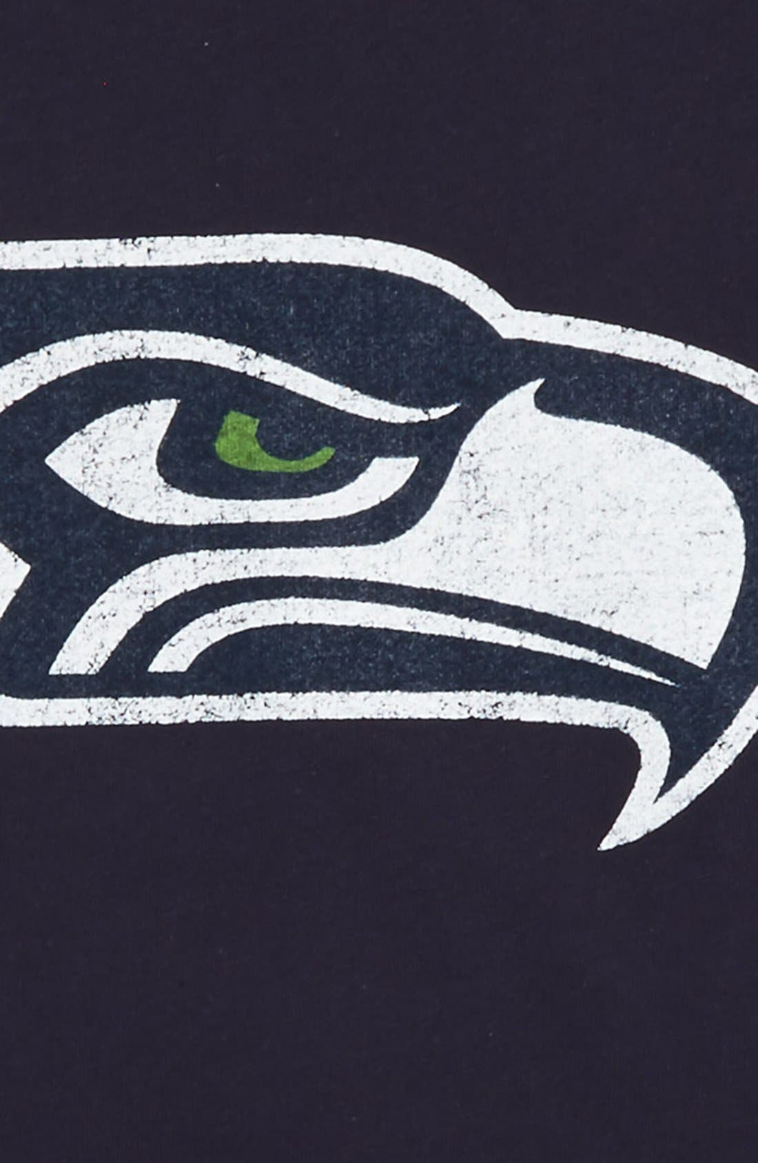 Alternate Image 2  - Outerstuff 'NFL - Seattle Seahawks' Distressed Logo Graphic T-Shirt (Big Boys)