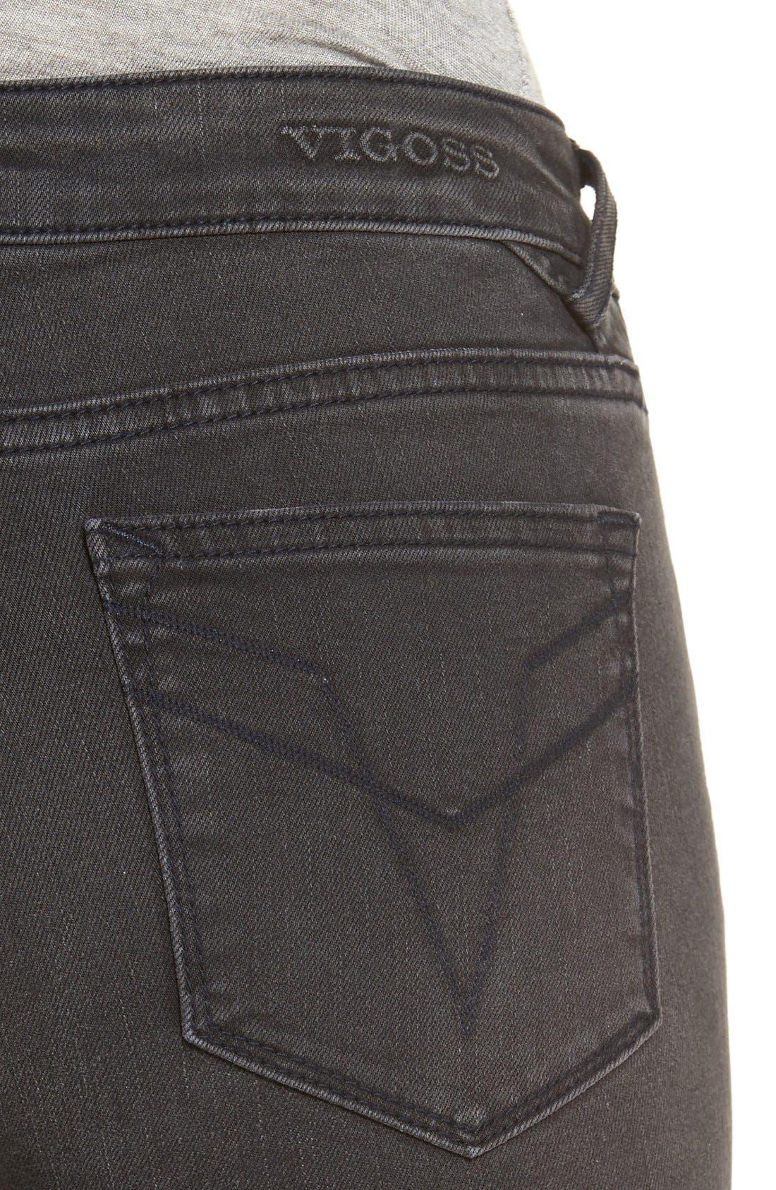Alternate Image 5  - Vigoss 'Chelsea' Moto Skinny Jeans