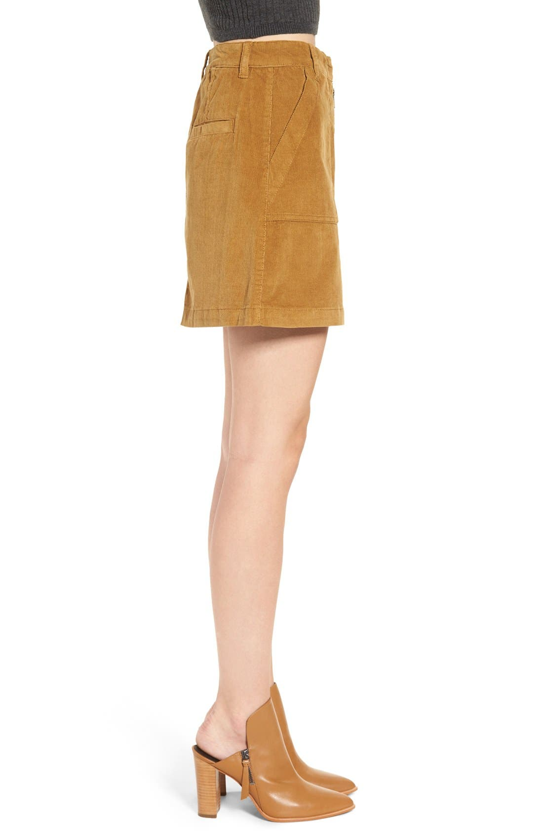 Alternate Image 3  - BP. A-Line Corduroy Skirt