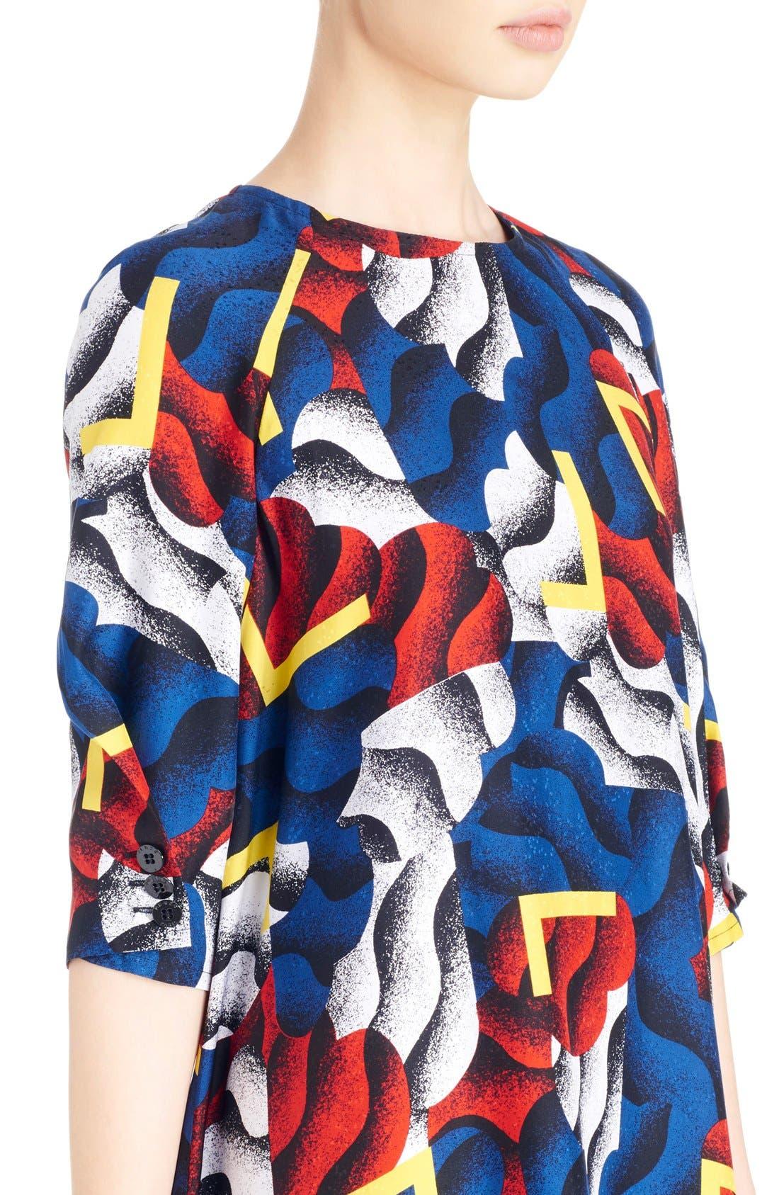 Alternate Image 4  - KENZO 'Clouds & Corners' Print Silk Dress