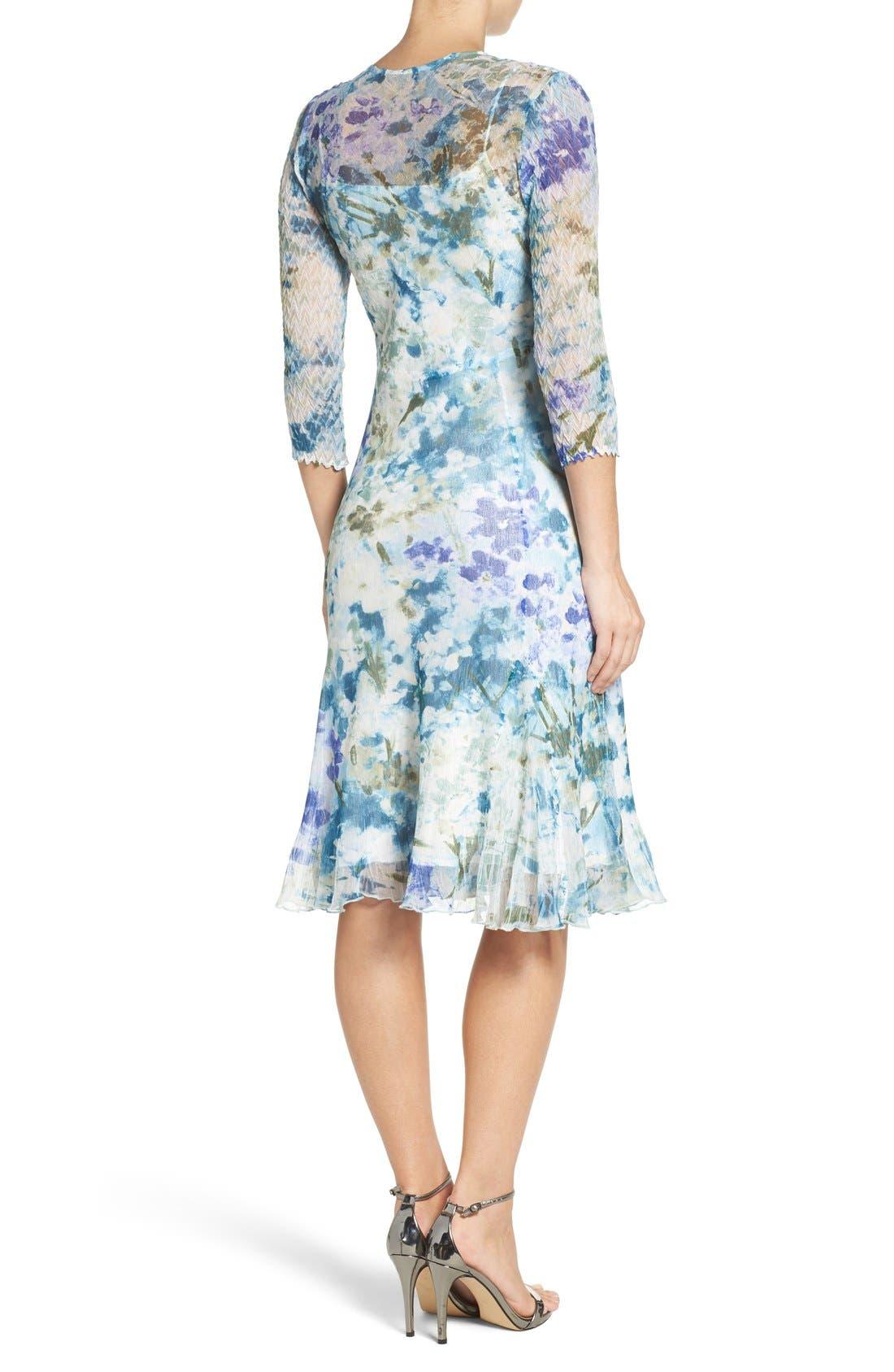Alternate Image 2  - Komarov Chiffon A-Line Dress (Regular & Petite)