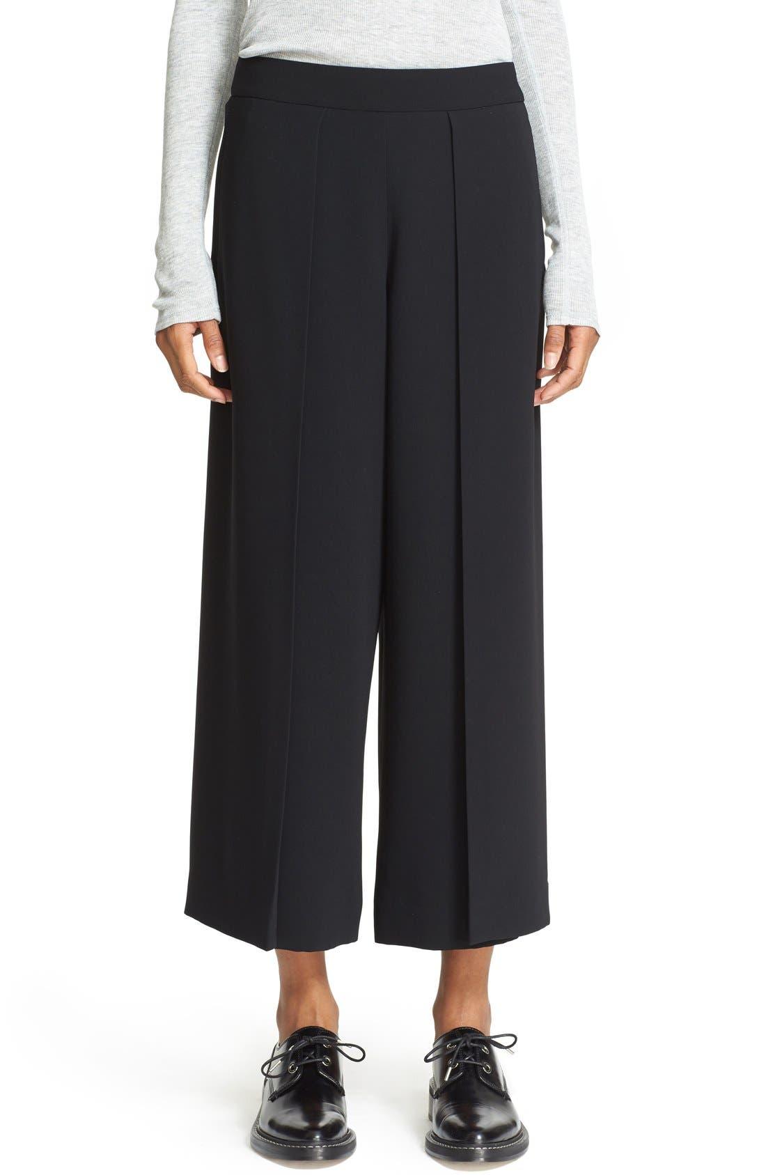 'Rowe' Pleat Crop Pants,                         Main,                         color, Black
