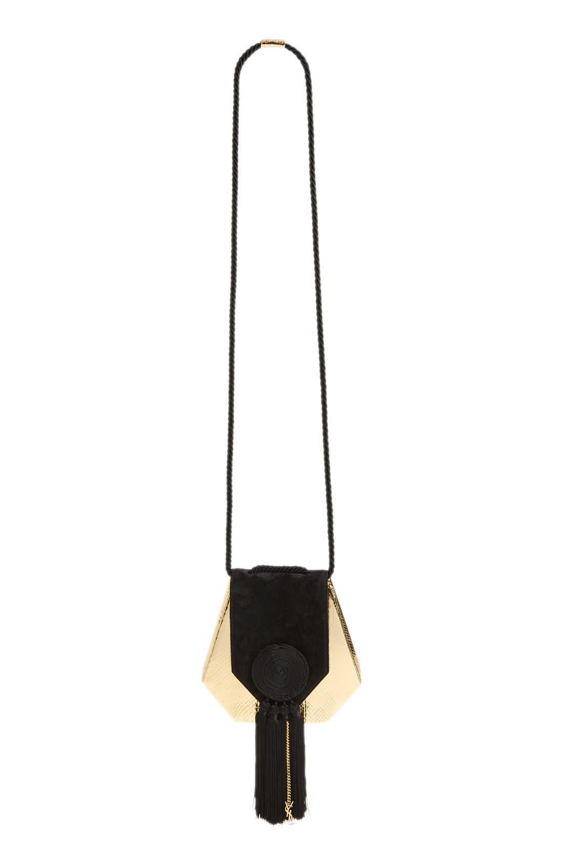 Alternate Image 2  - Saint Laurent 'Opium' Genuine Snakeskin & Leather Saddle Bag