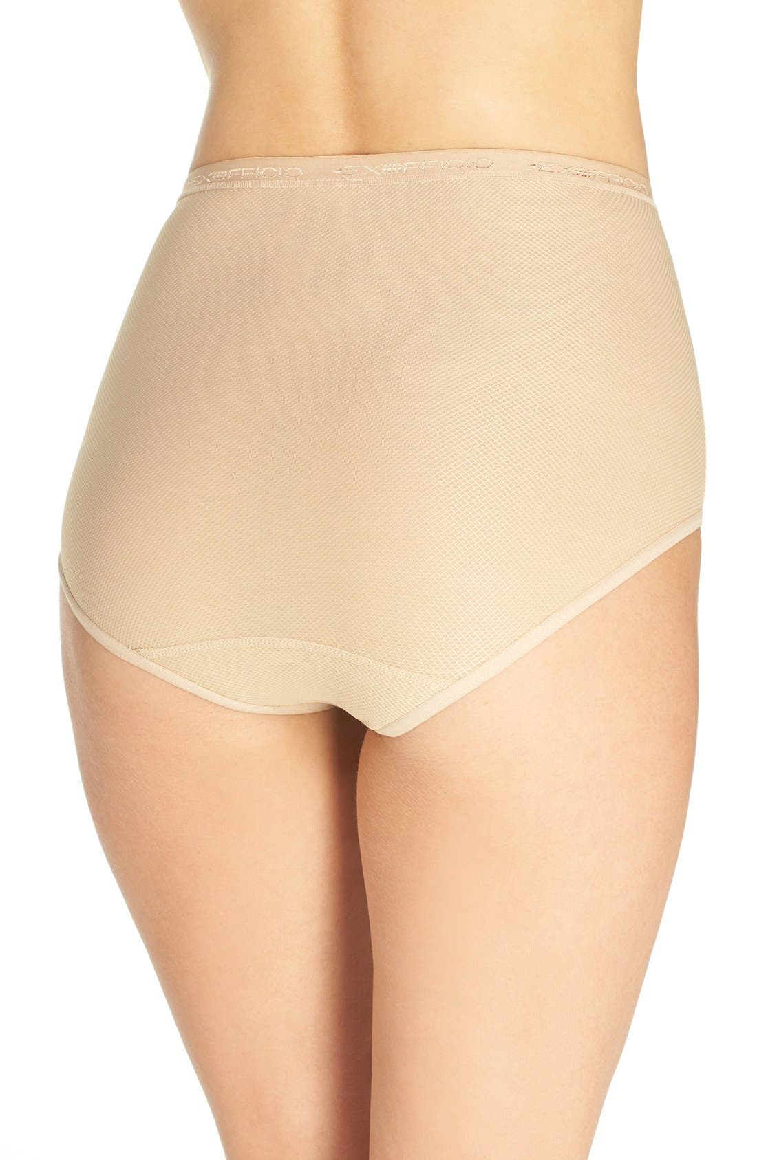 Give-N-Go<sup>®</sup> High Waist Sport Briefs,                             Alternate thumbnail 2, color,                             Nude