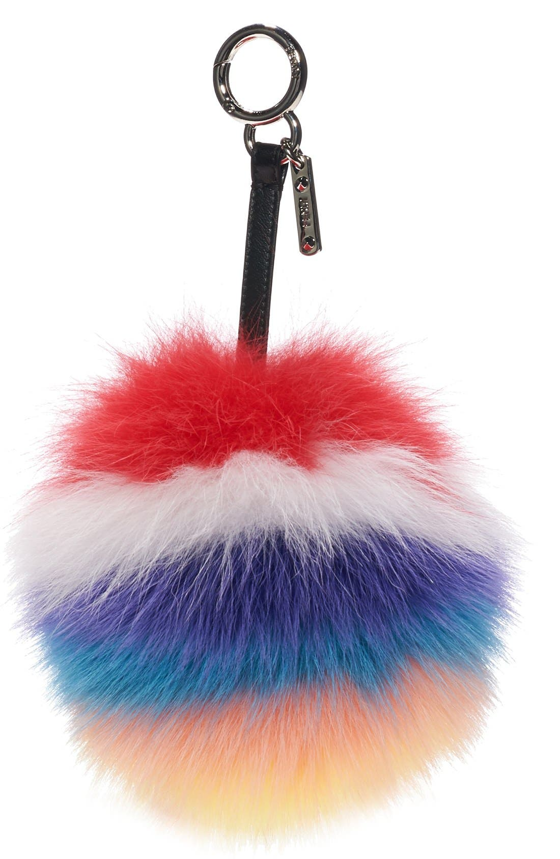 Alternate Image 2  - Fendi Genuine Fox Fur Bag Charm