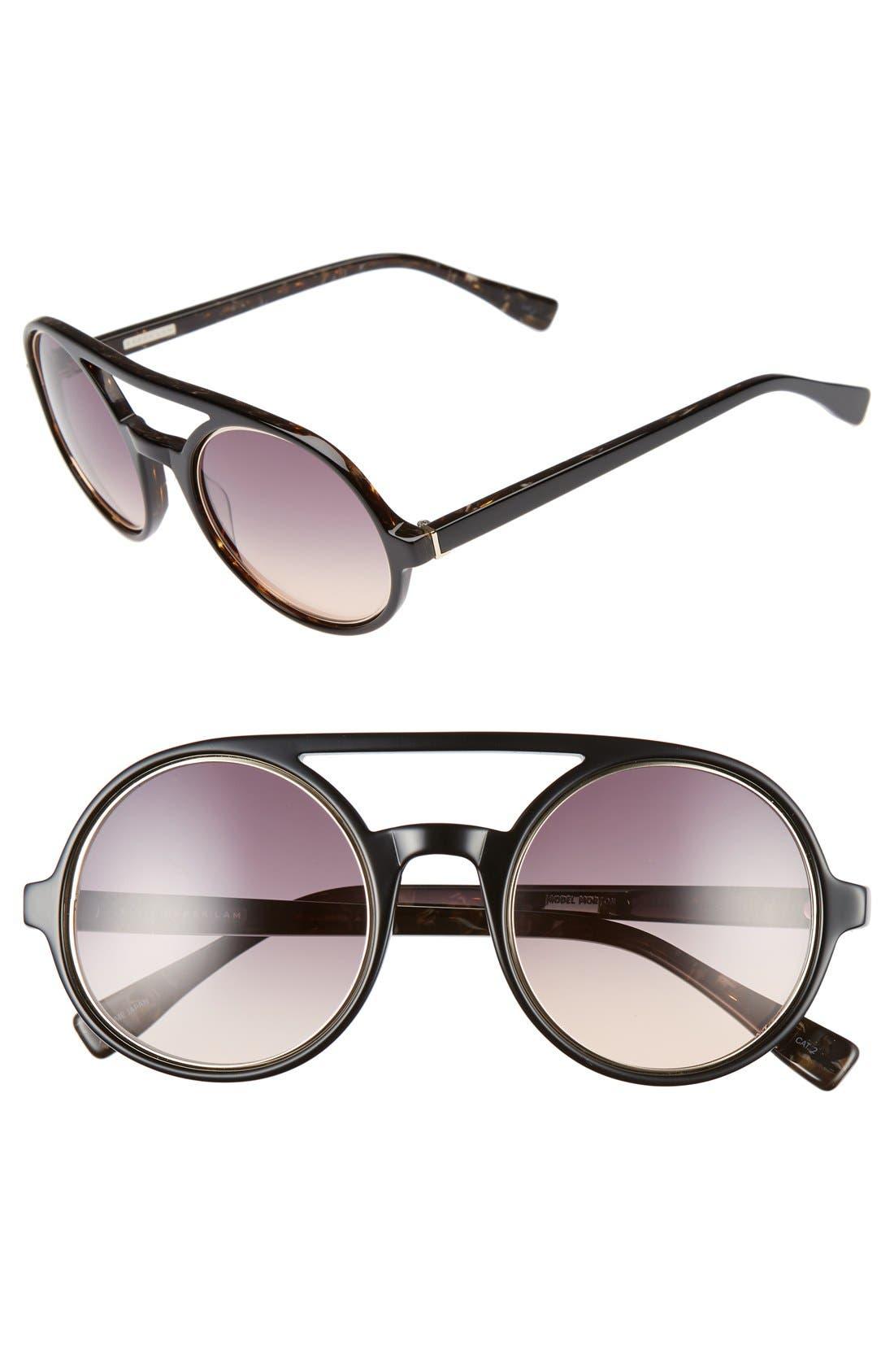 'Morton' 52mm Sunglasses,                             Main thumbnail 1, color,                             Black Brown