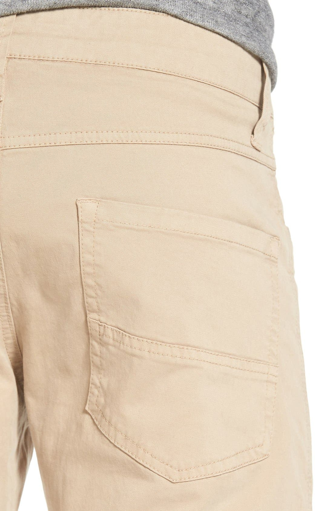 'Sunny' Slim Fit Stretch Twill Pants,                             Alternate thumbnail 4, color,                             Khaki