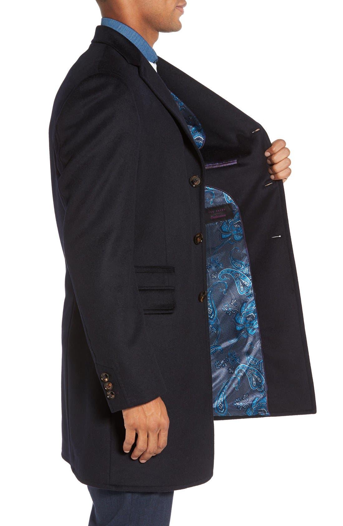 Alternate Image 3  - Ted Baker London Alaska Trim Fit Wool & Cashmere Overcoat