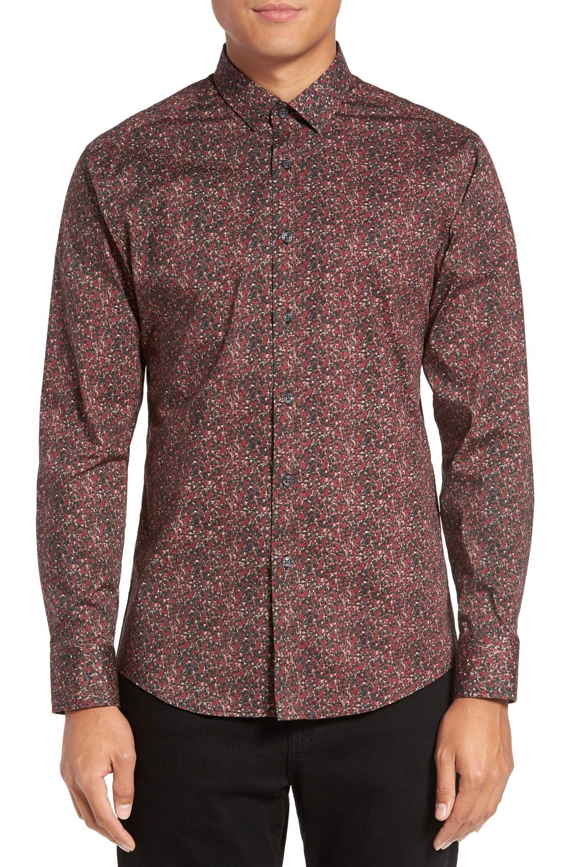 Alternate Image 1 Selected - Vince Camuto Slim Fit Print Sport Shirt