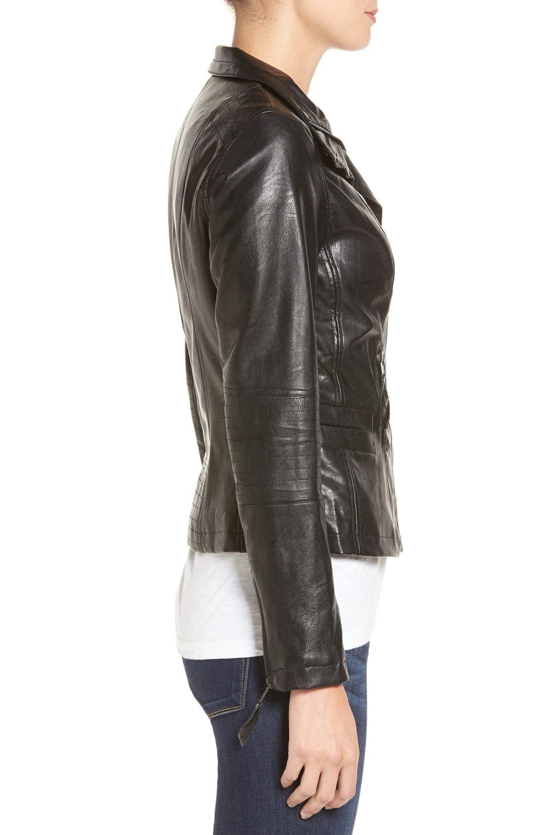 Alternate Image 3  - KUT from the Kloth 'Elena' Faux Leather Motocross Jacket
