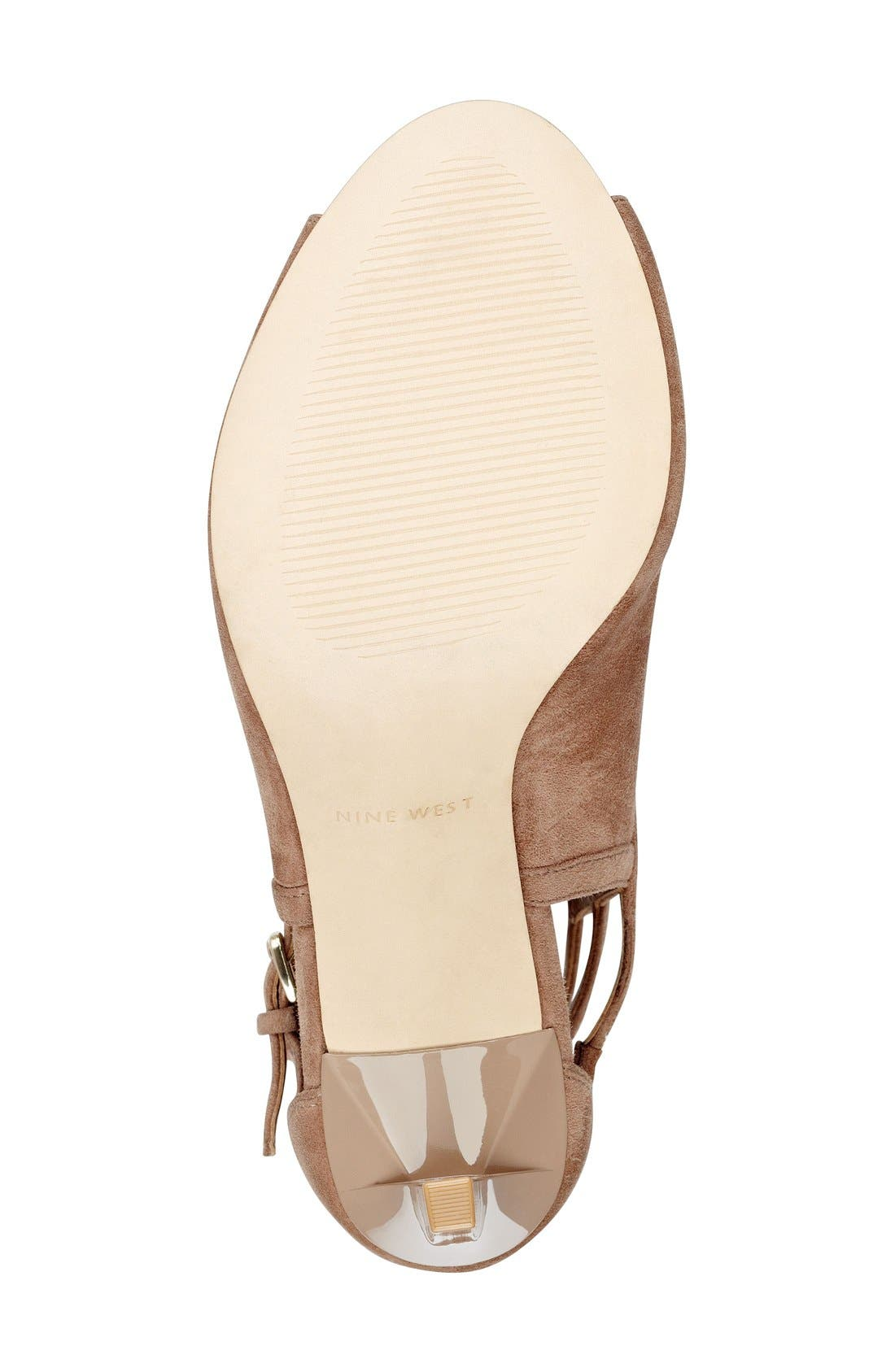 Alternate Image 4  - Nine West 'Laulani' Cutout Peep Toe Bootie (Women)
