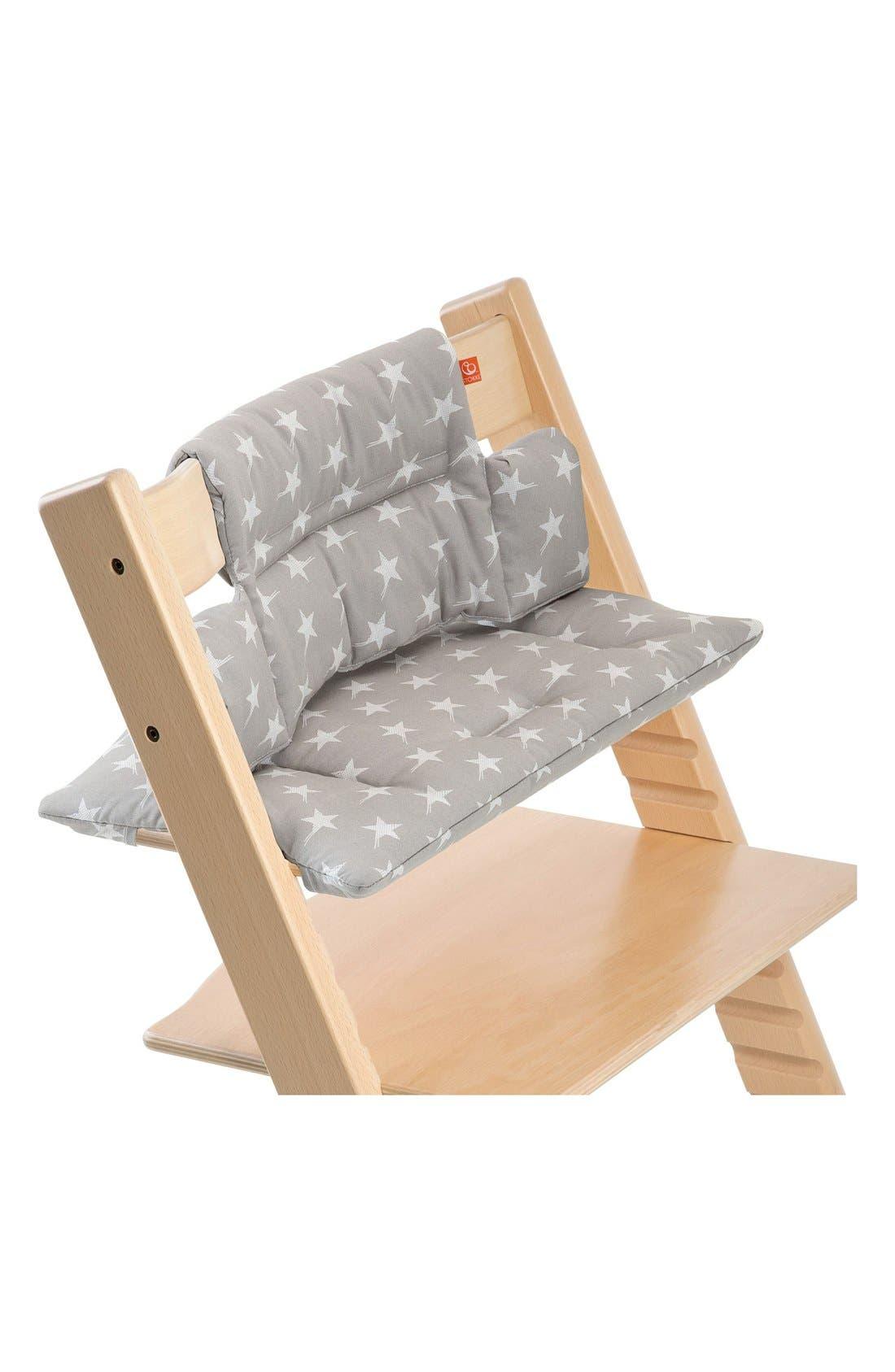 'Tripp Trapp<sup>®</sup> Classic' Seat Cushions,                             Main thumbnail 1, color,                             Grey Stars