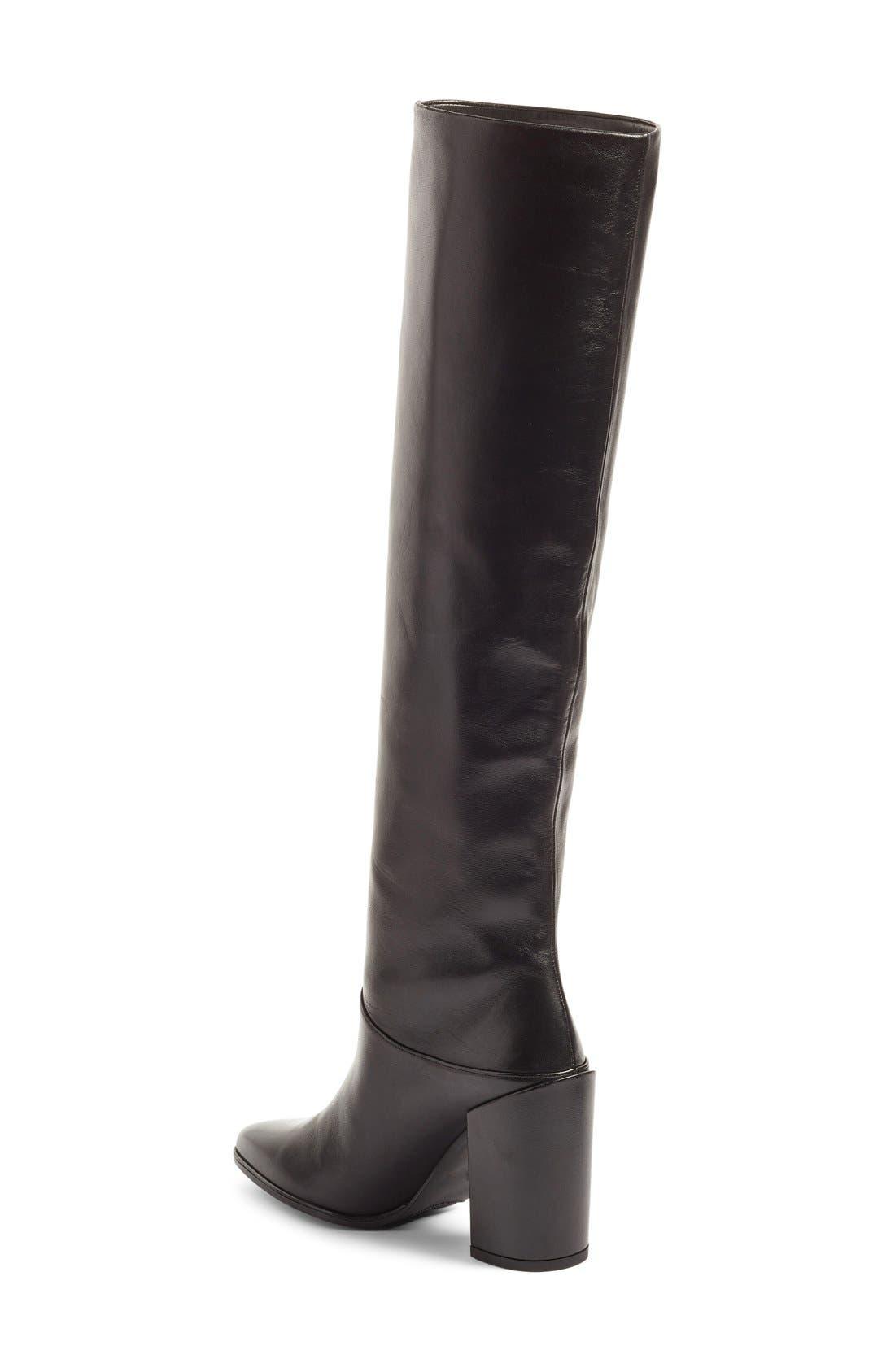 Alternate Image 2  - Stuart Weitzman Scrunchy Leather Knee High Boot (Women)
