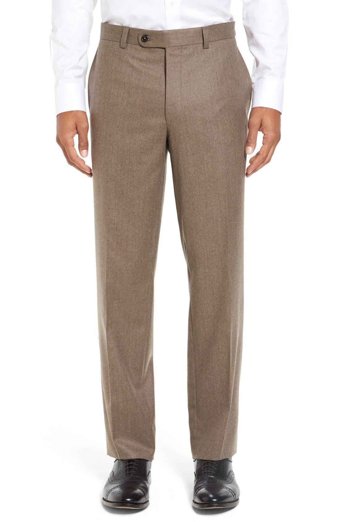 'Ryan' Classic Fit Trousers,                             Main thumbnail 1, color,                             Tan