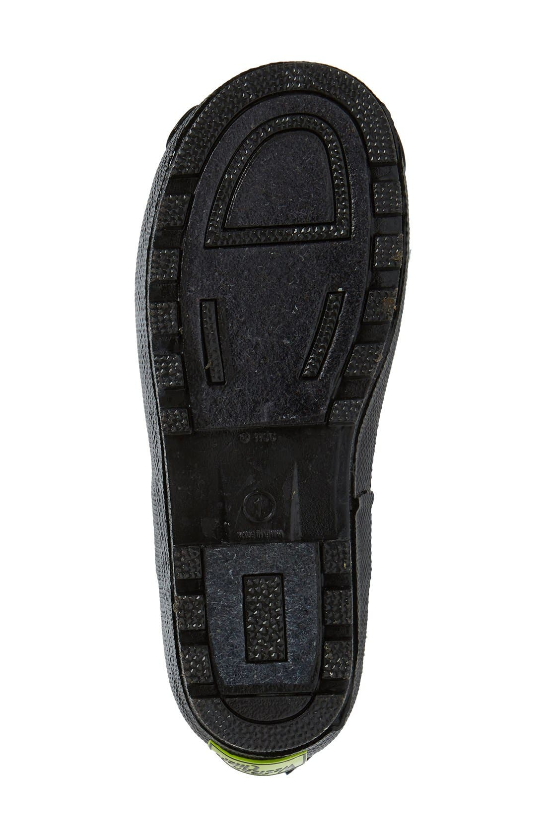 'Star Wars<sup>™</sup> - Darth Vader' Waterproof Rain Boot,                             Alternate thumbnail 4, color,                             Black