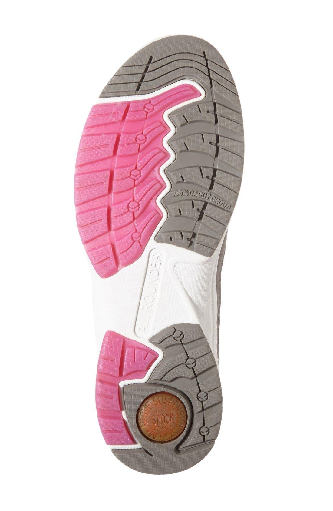 'Darina' Sneaker,                             Alternate thumbnail 3, color,                             Grigio Nubuck Leather