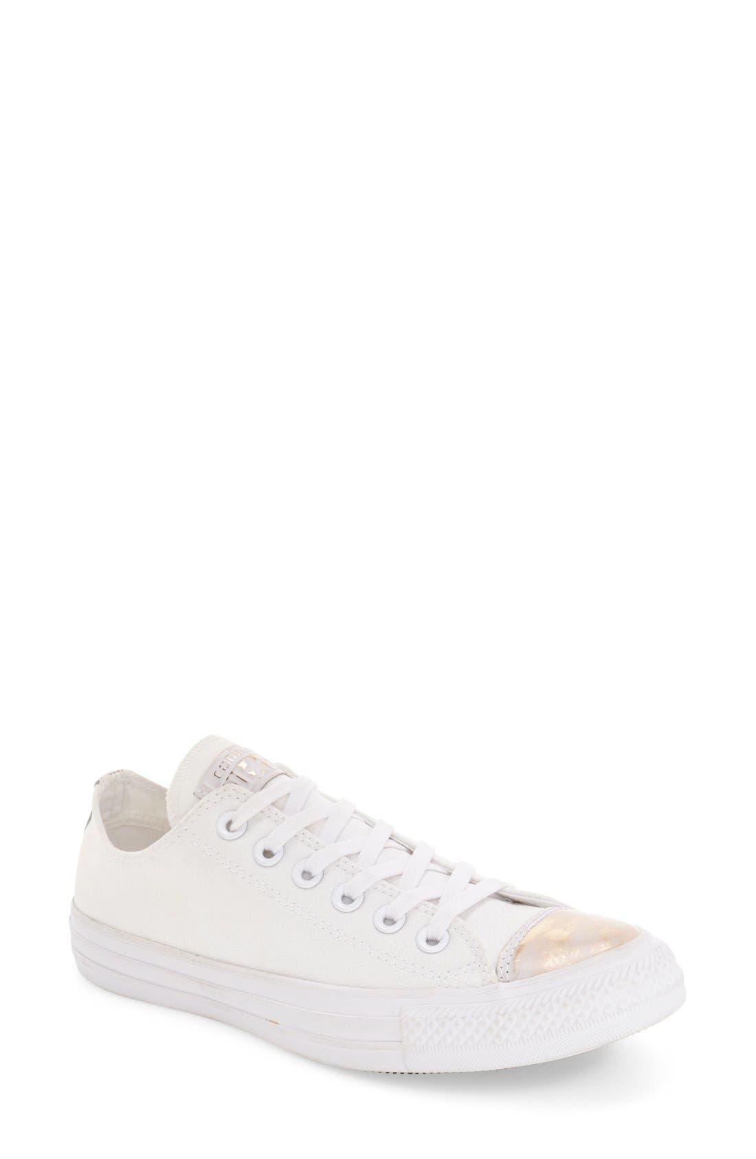 Alternate Image 1 Selected - Converse Chuck Taylor® All Star® 'Brush Off' Metallic Cap Toe Sneaker (Women)